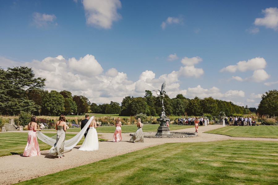 Outdoor ceremony St Giles House wedding photography