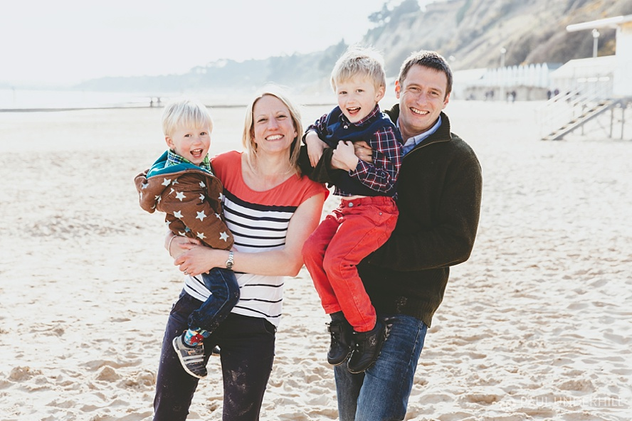 Fun family photography on the beach in Dorset