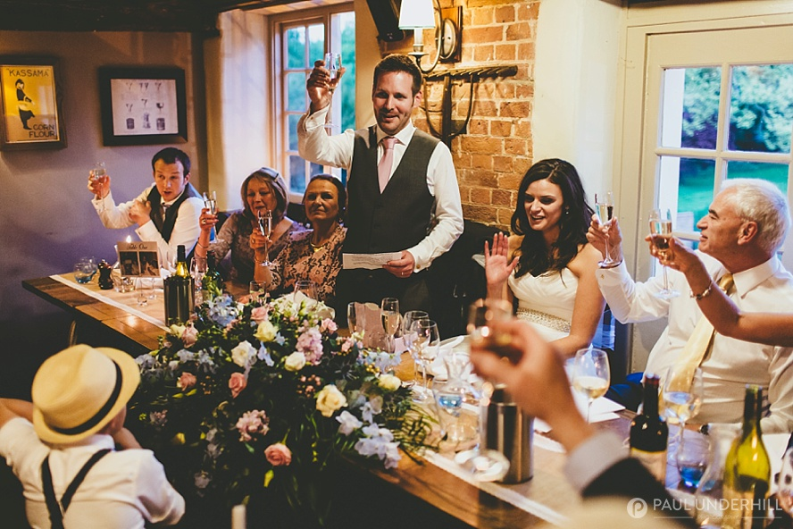 Groom makes a toast wedding speech