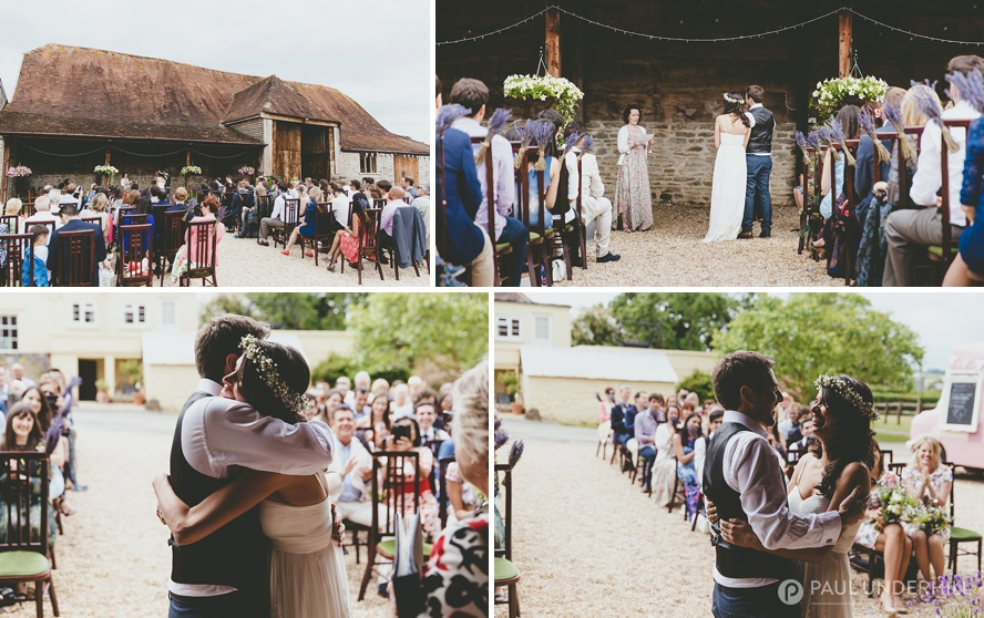 Documentary photography barn wedding