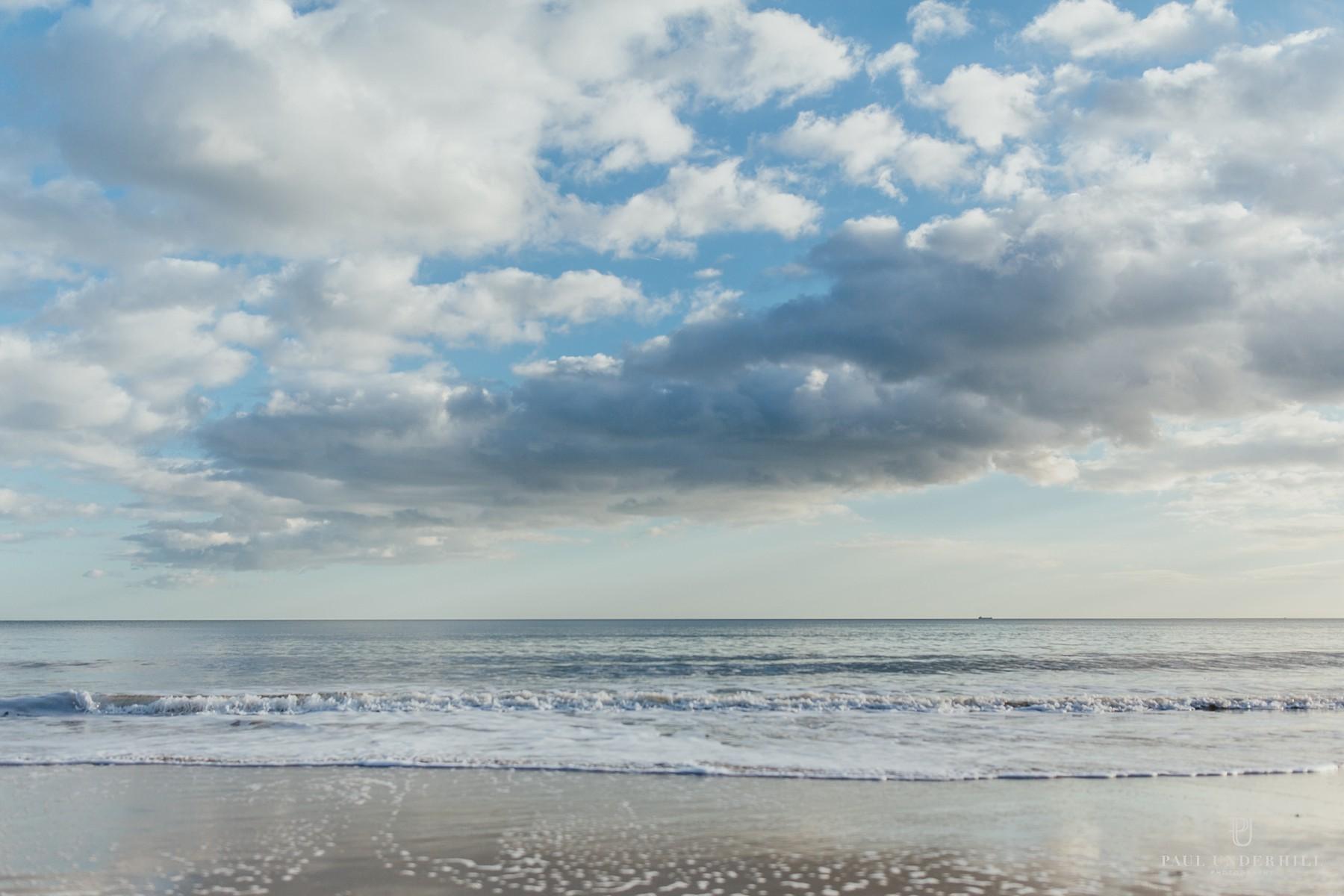 Bournemouth beach sea view