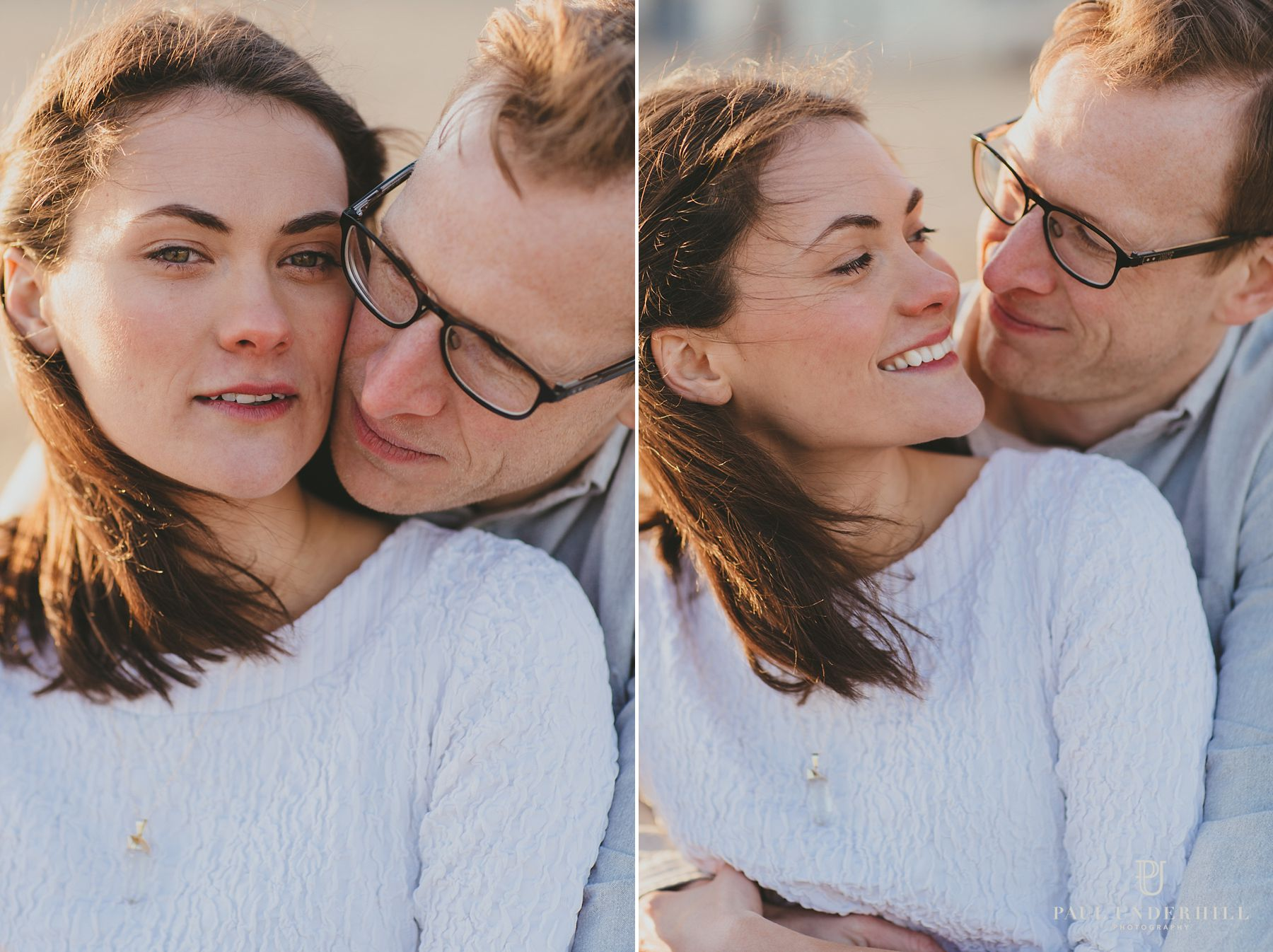 Couple portraits on Bournemouth beach