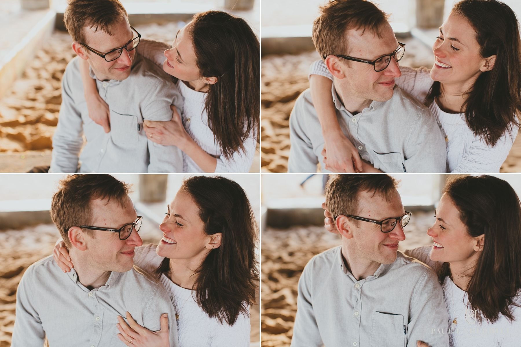 Relaxed portraits of bride and groom