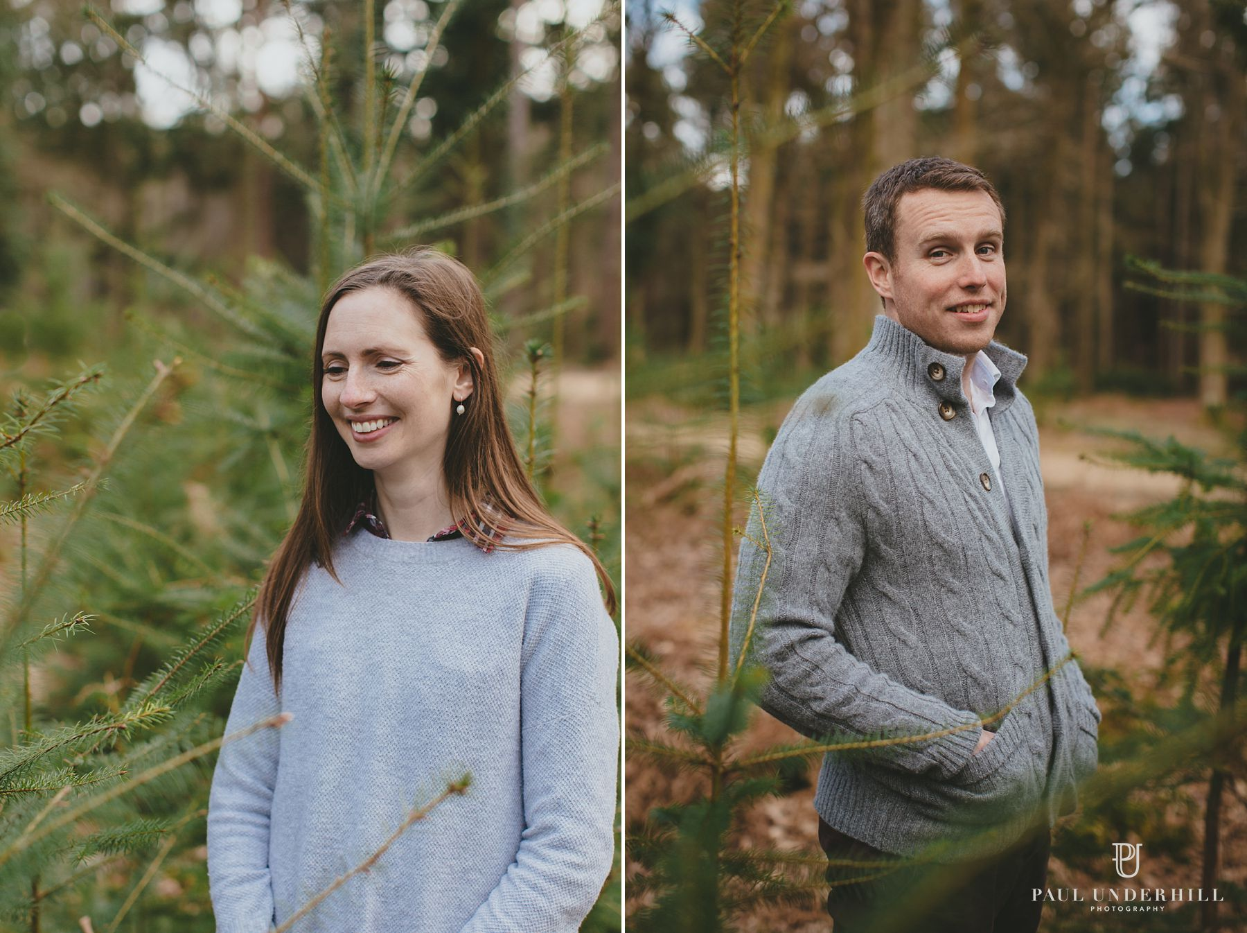 Bride and groom portraits New Forest