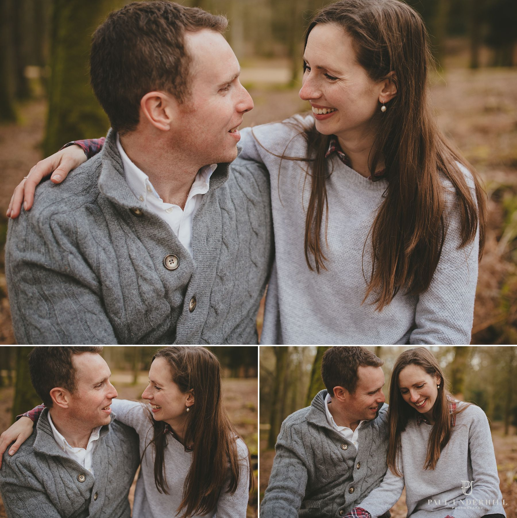 Bride and groom relaxed portraits