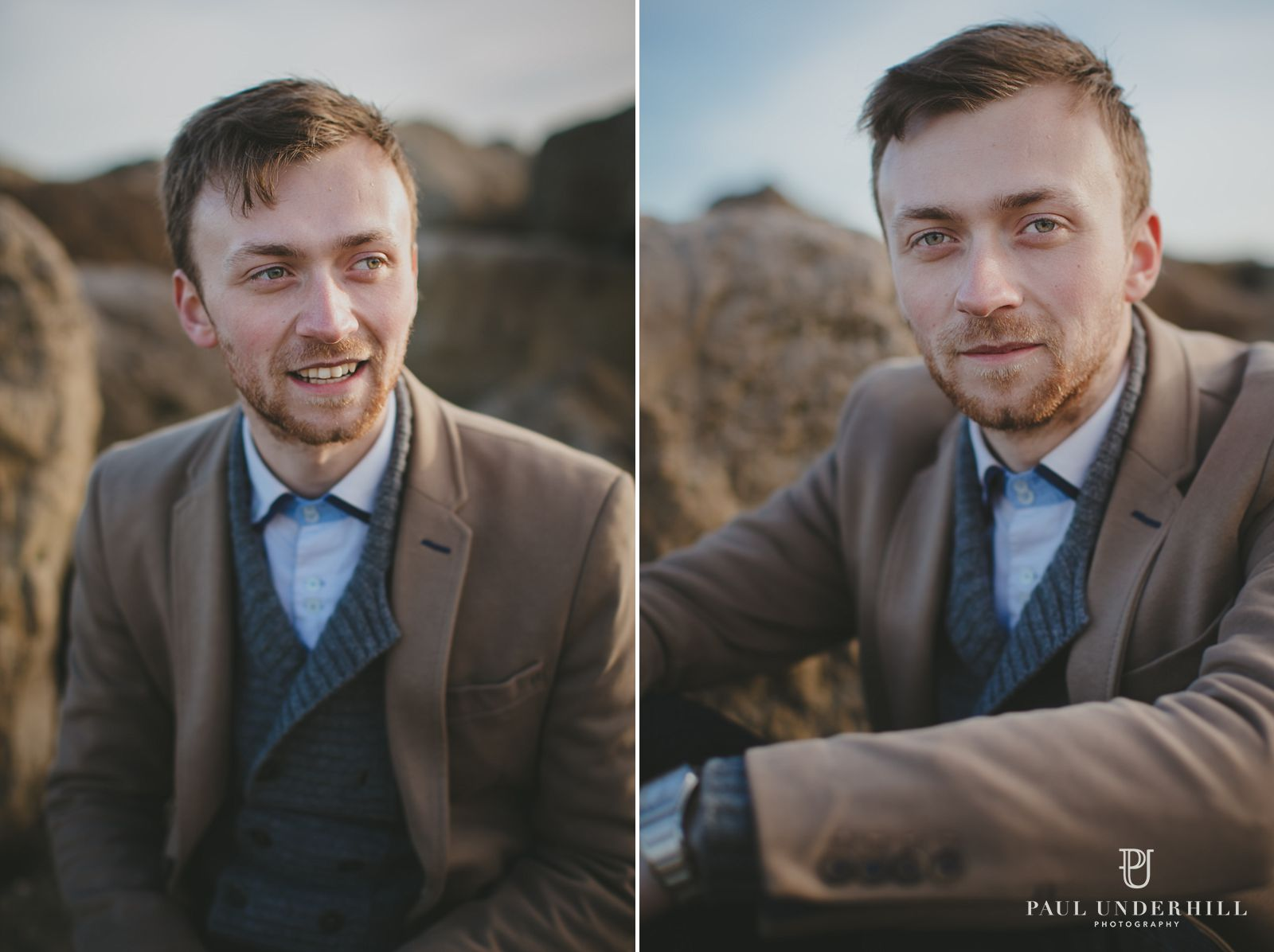 Creative portraits groom