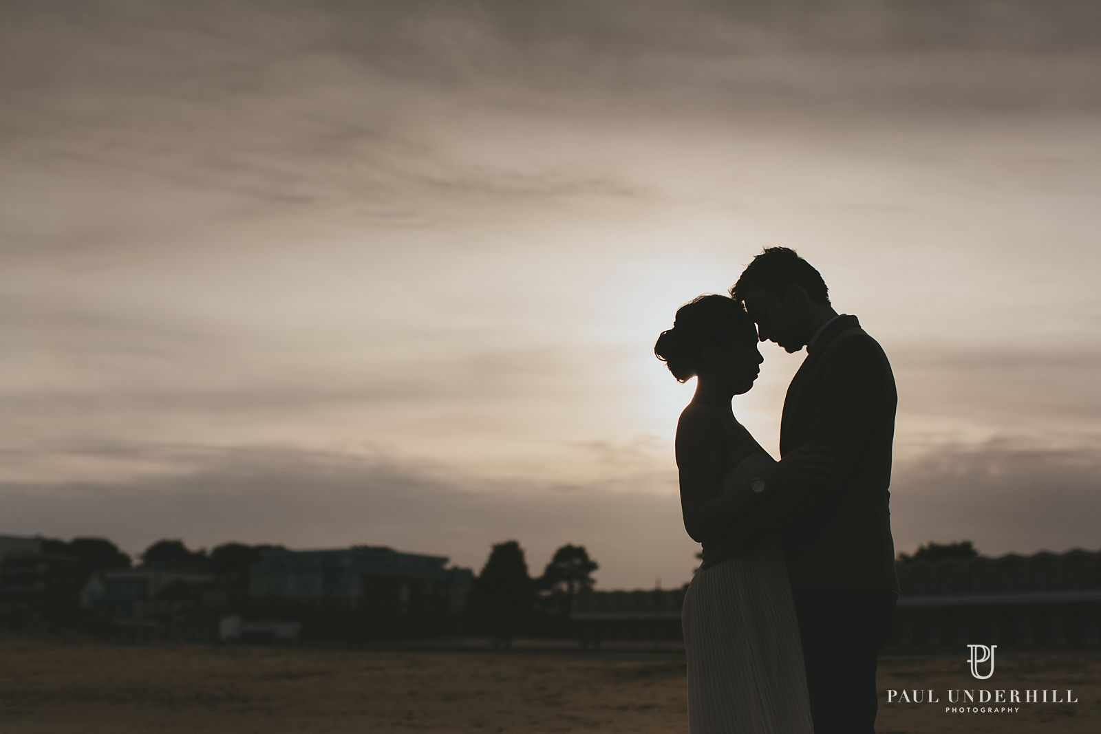 Sunset portrait photography in Poole