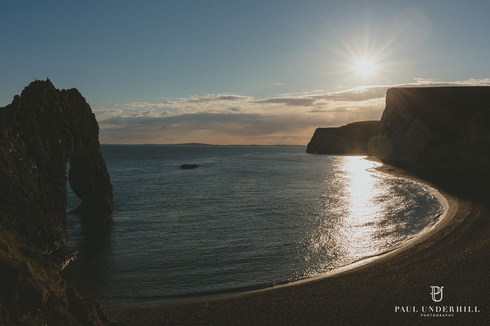View over Durdle Door in Dorset