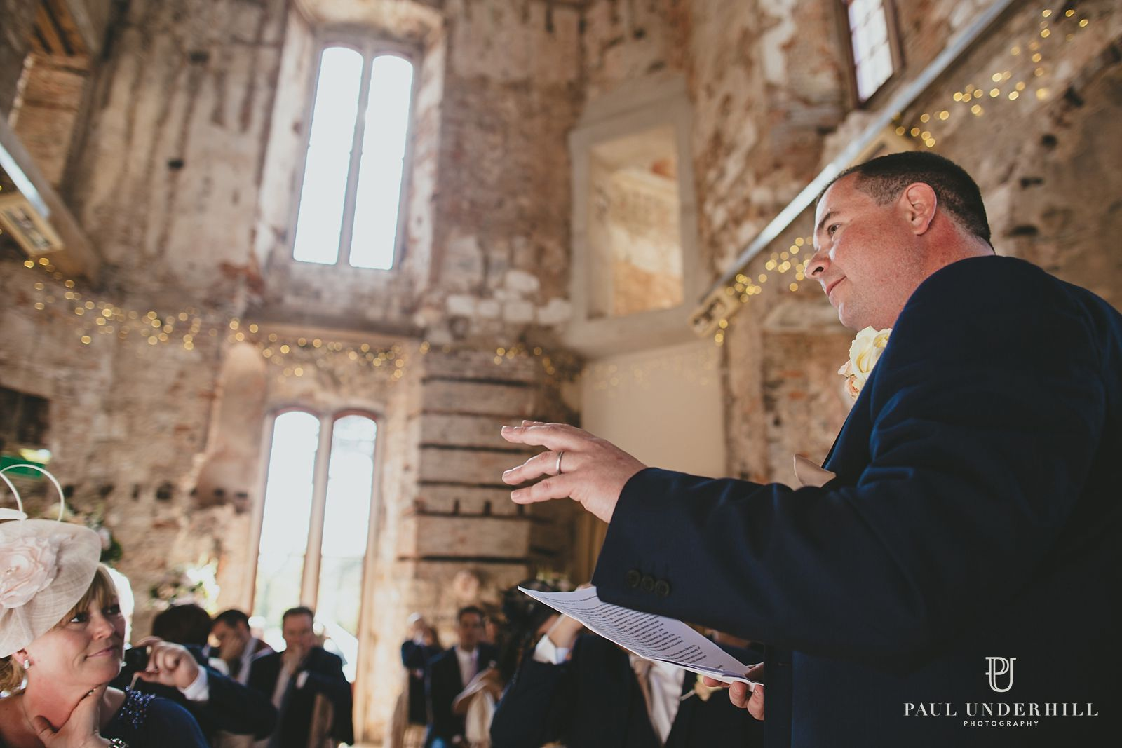 Creative photography Lulworth Castle wedding