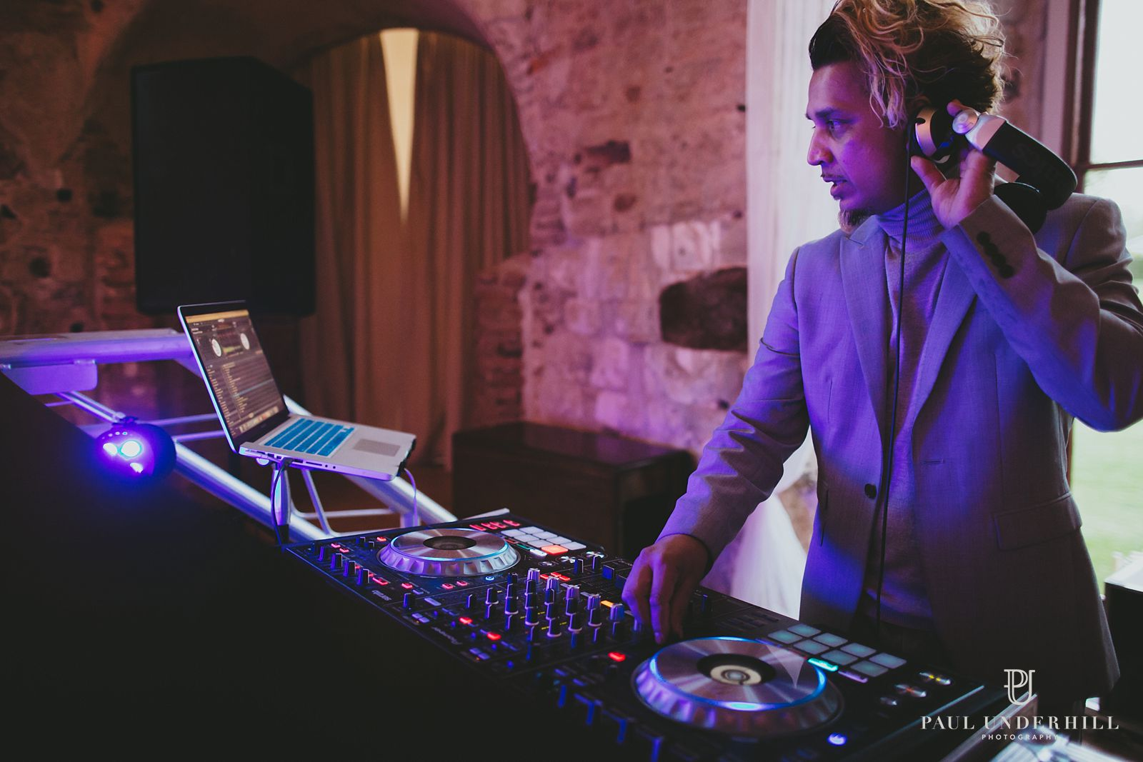 DJ at Lulworth Castle wedding