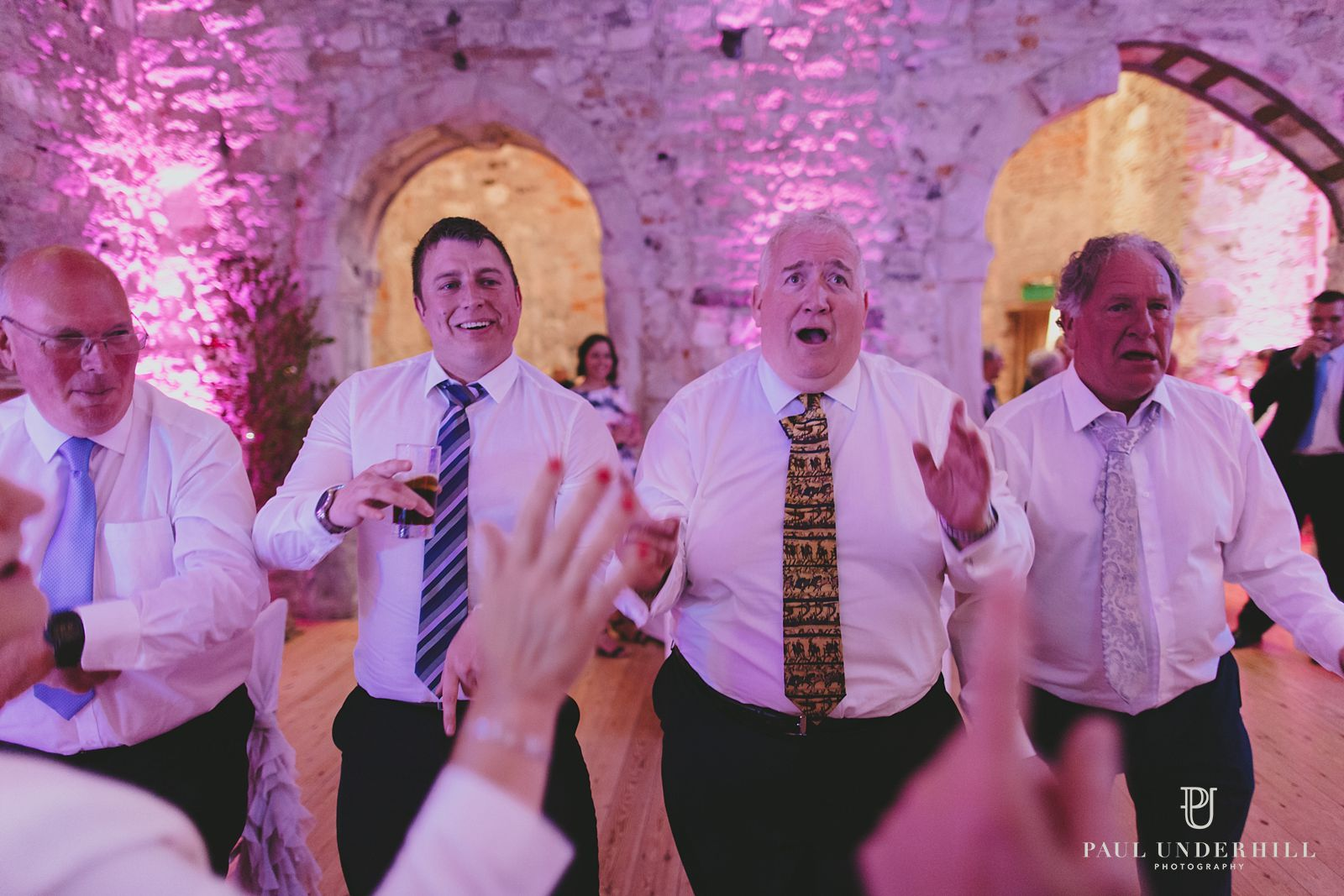 Dancing at Lulworth Castle wedding