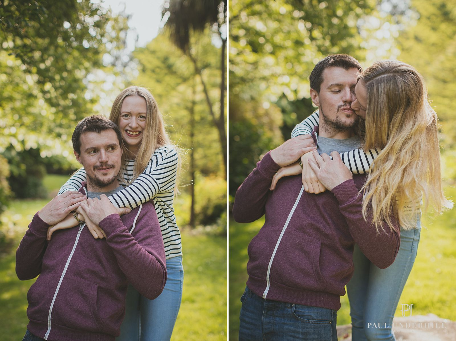 Fun couples portraits in Poole