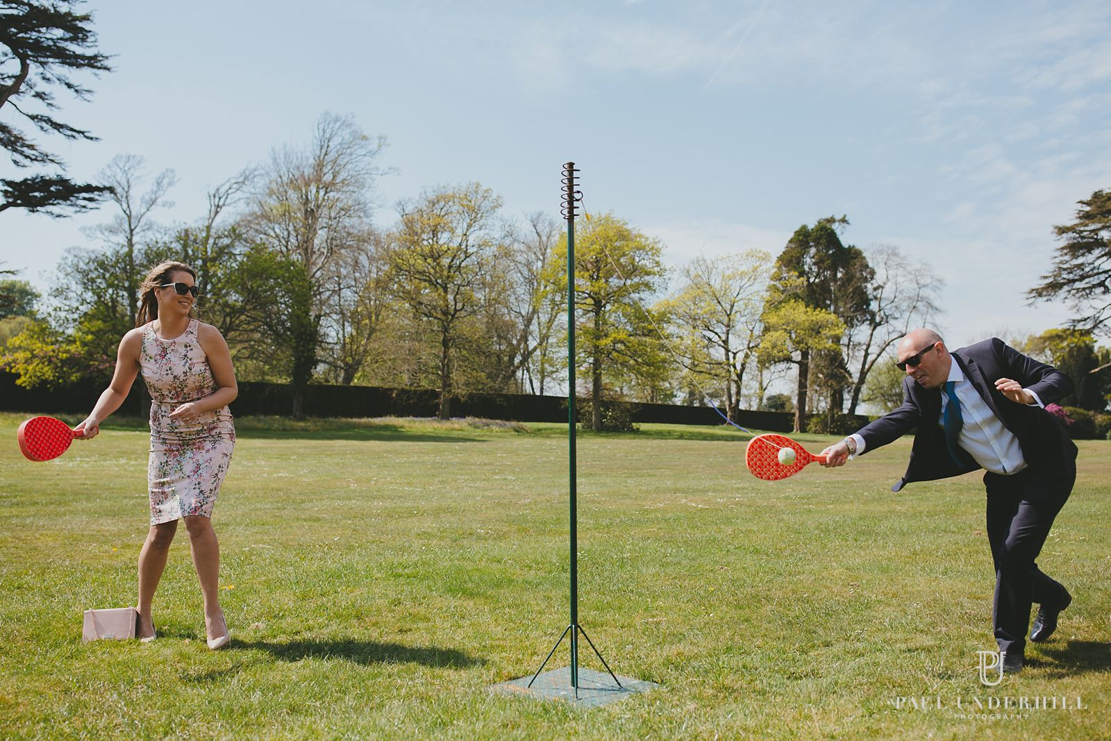 Lulworth castle lawn games at wedding