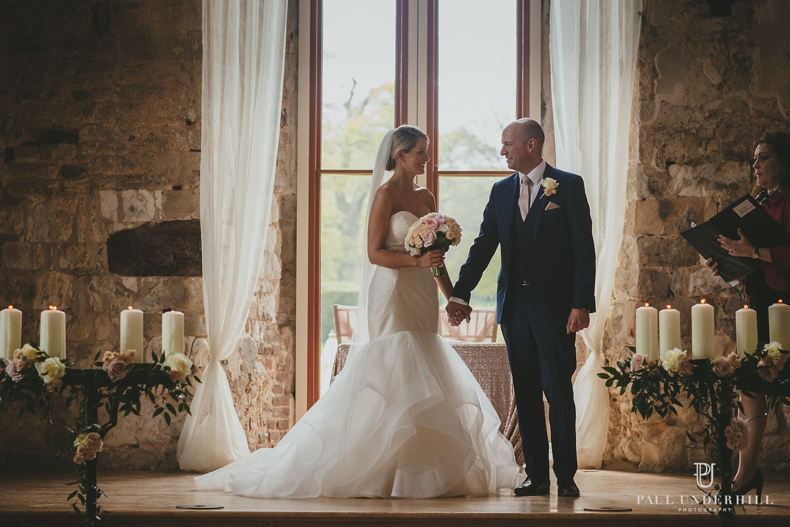 Newlyweds at Lulworth Castle