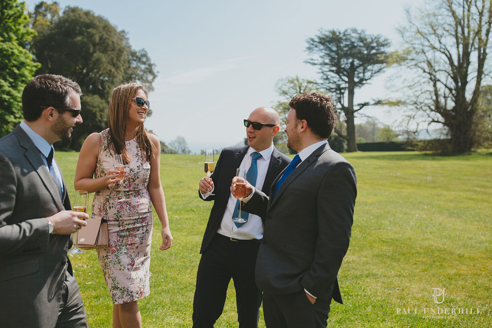 Outside Lulworth Castle wedding