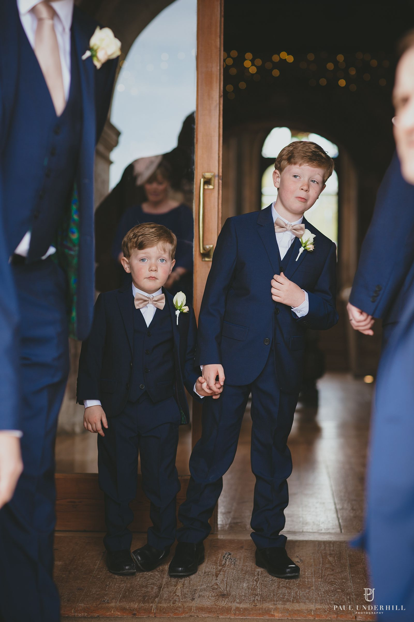 Page boys at Lulworth Castle wedding