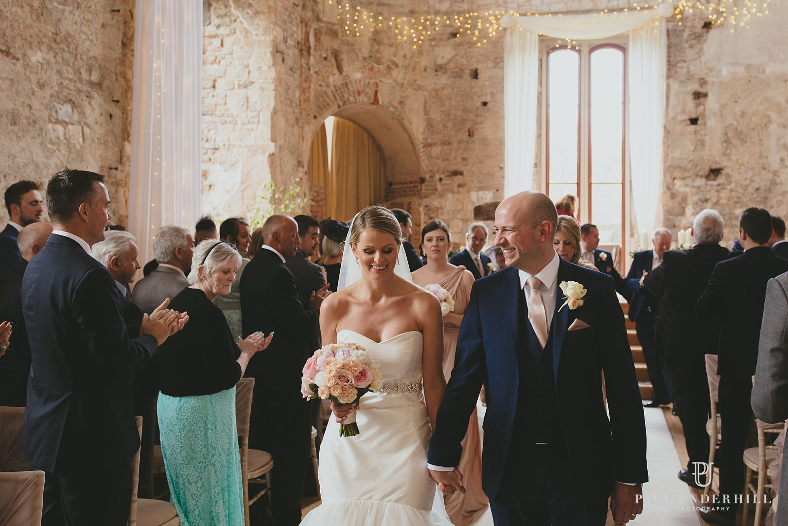 Wedding excitement at Lulworth Castle