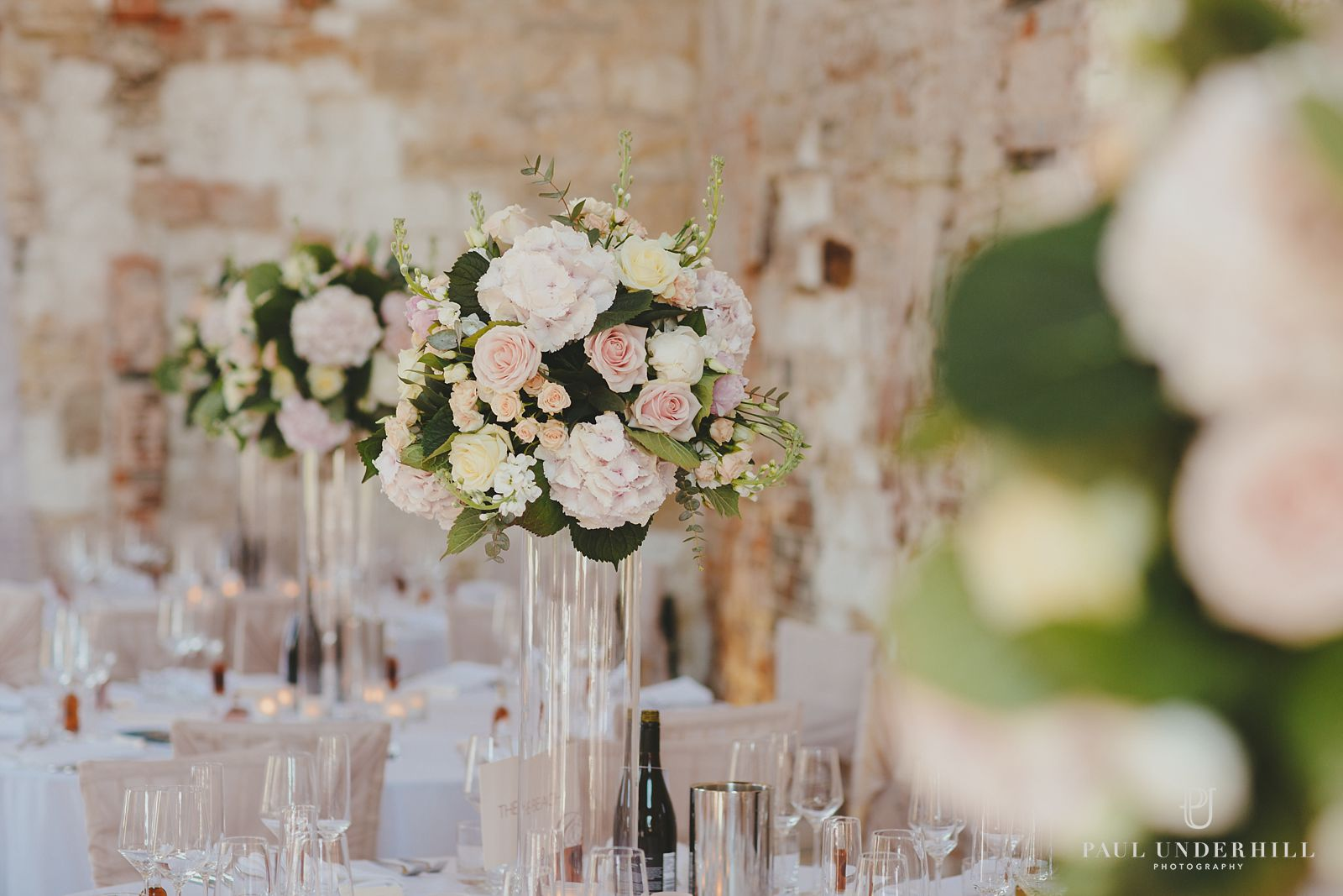 Wedding flowers at Lulworth castle
