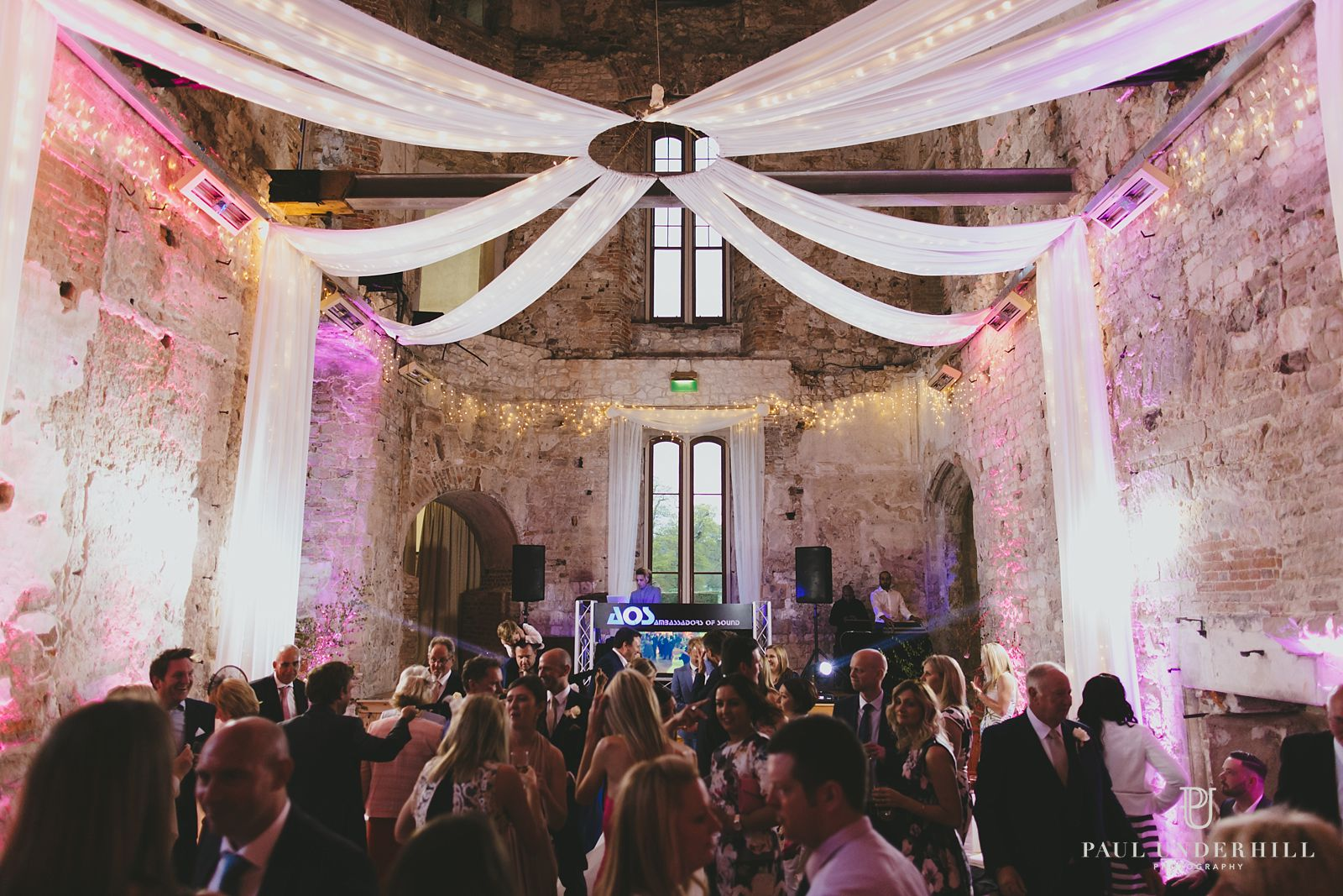 Wedding production at Lulworth Castle
