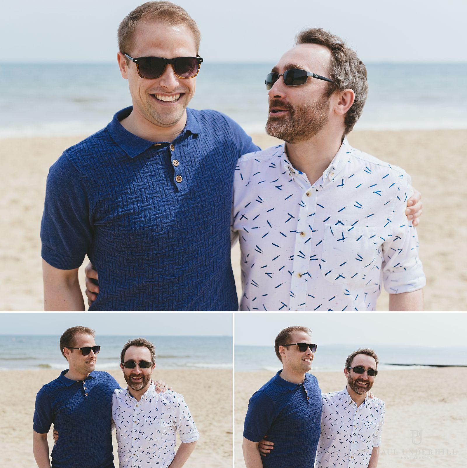 Couple portraits of gay couple