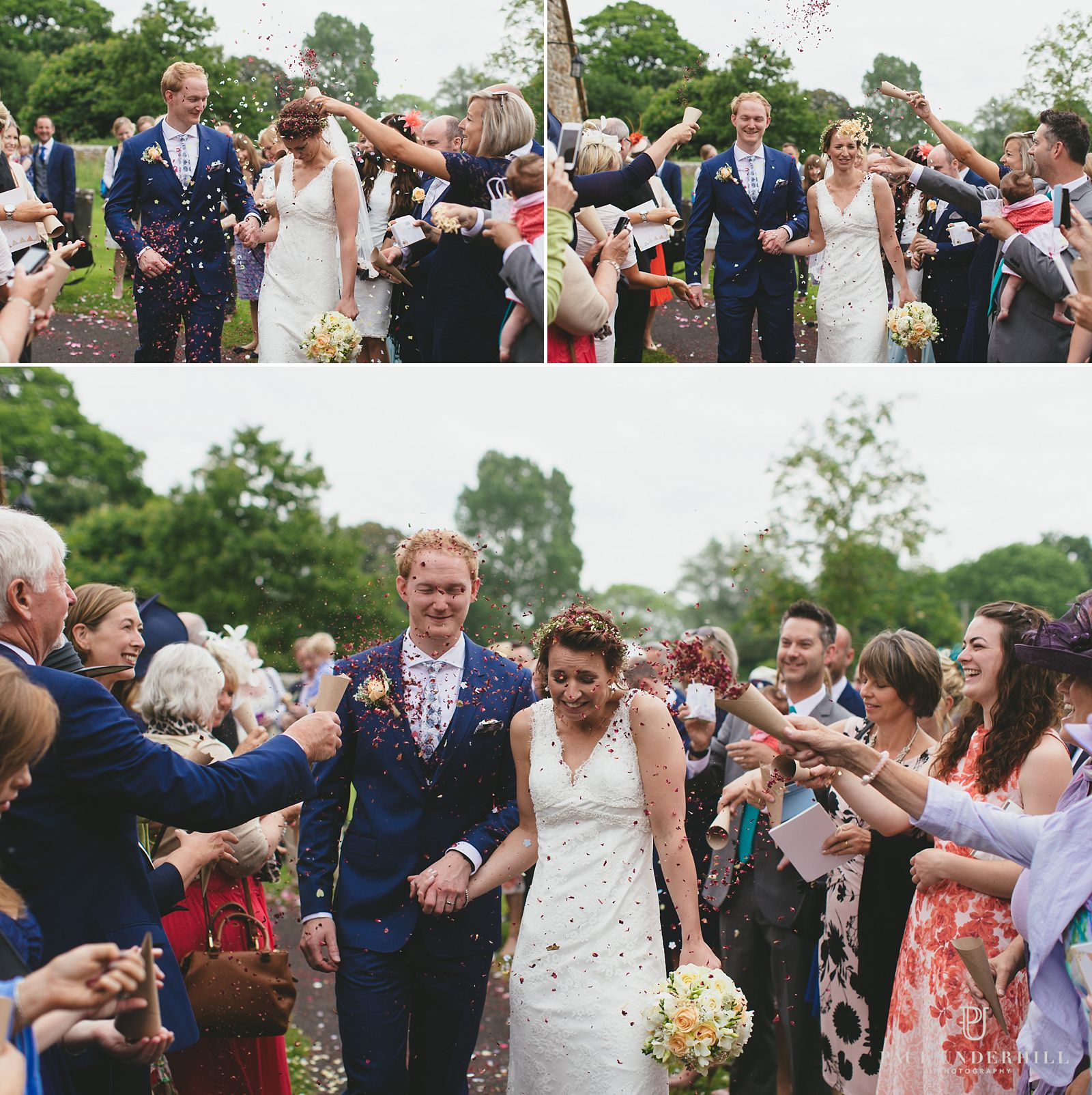 Dorset wedding confetti throwing