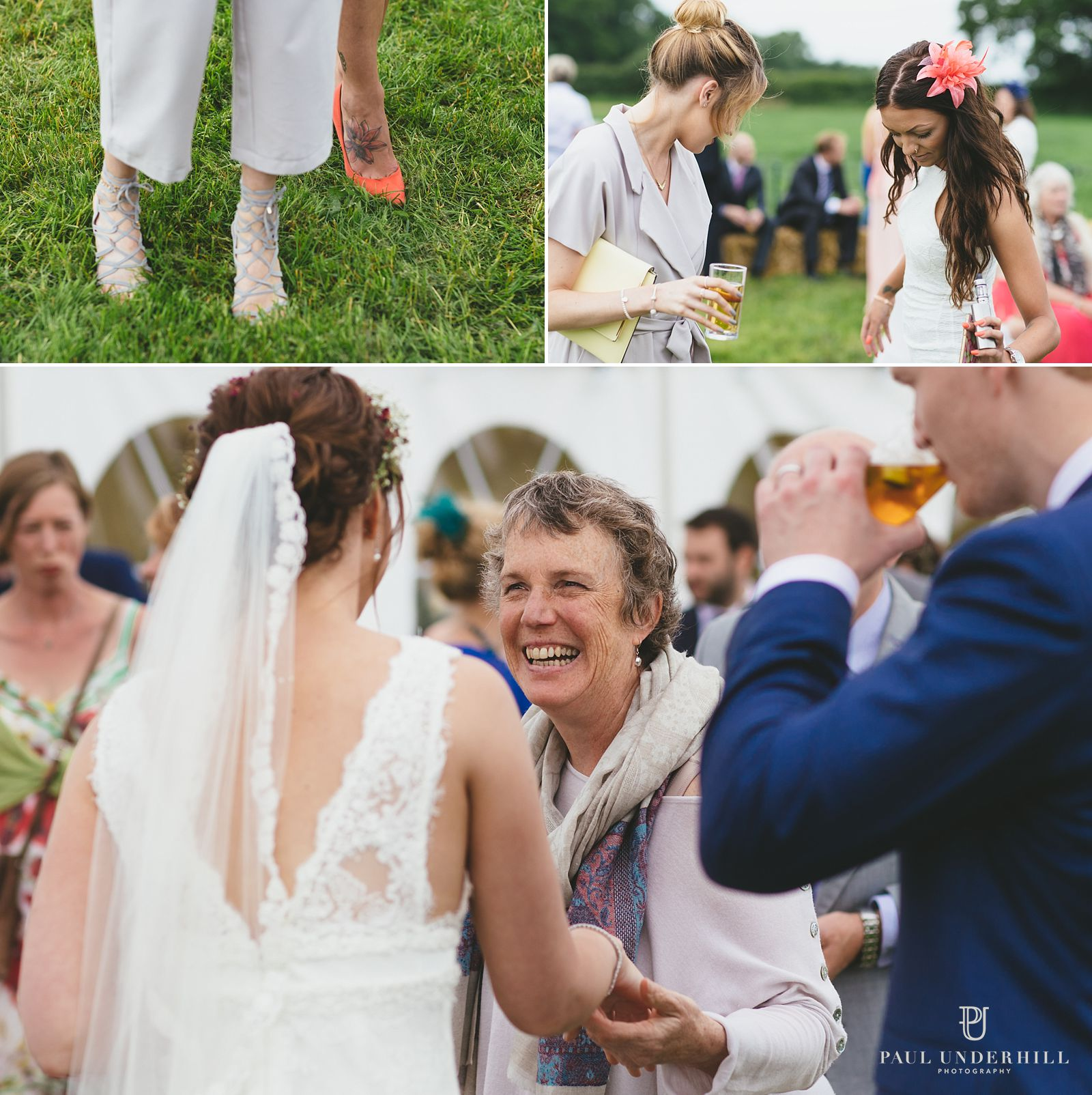 Farm wedding reception in Dorset