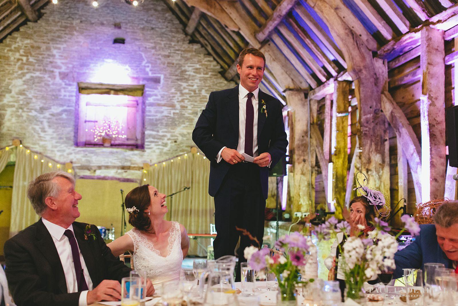 Grooms speech Stockbridge Farm Barn