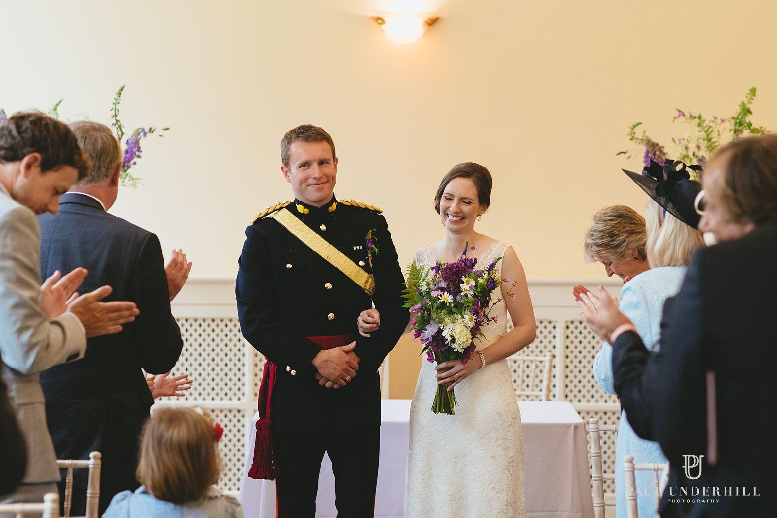 Happy couple Dorset wedding