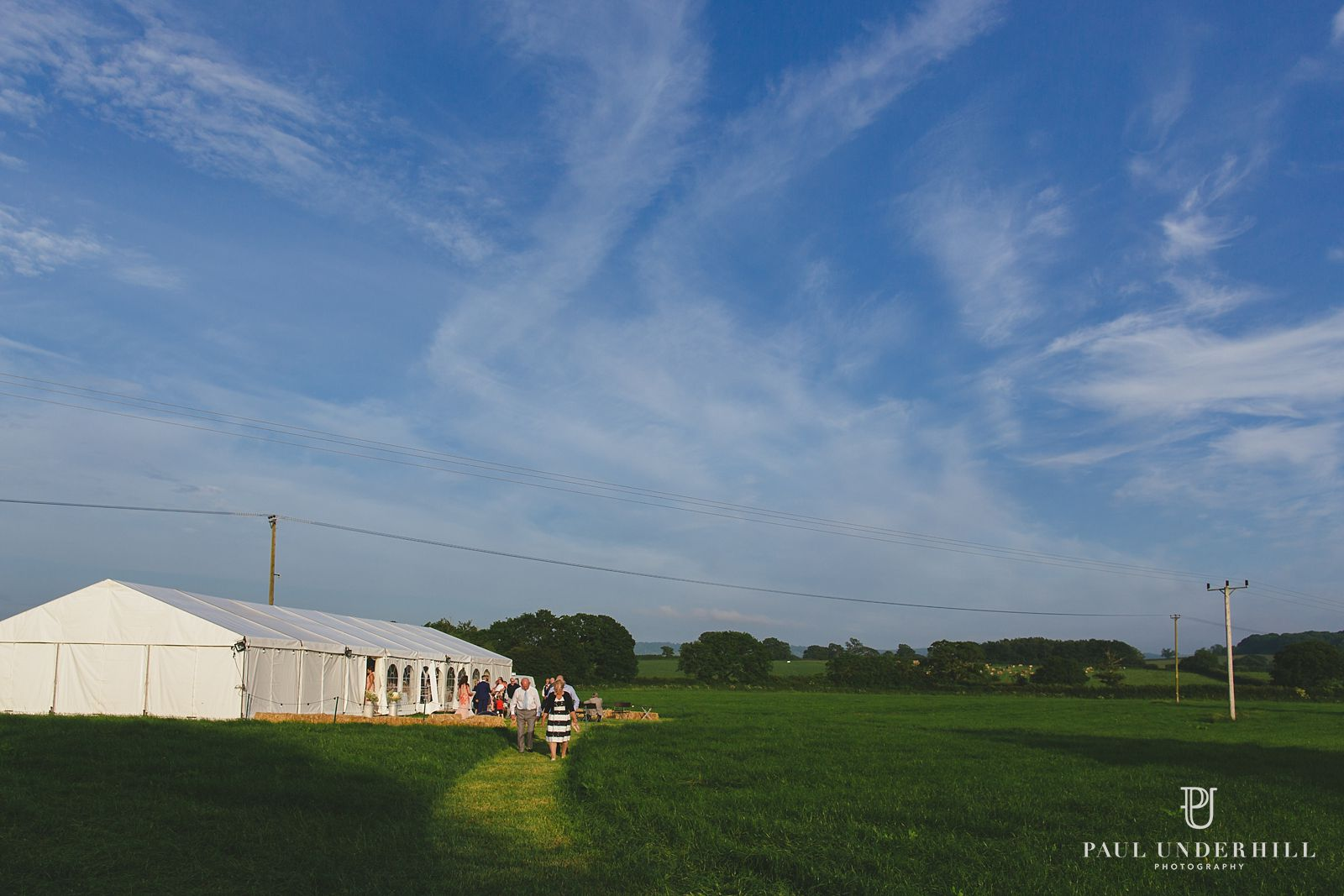 Marquee wedding on Dorset farm