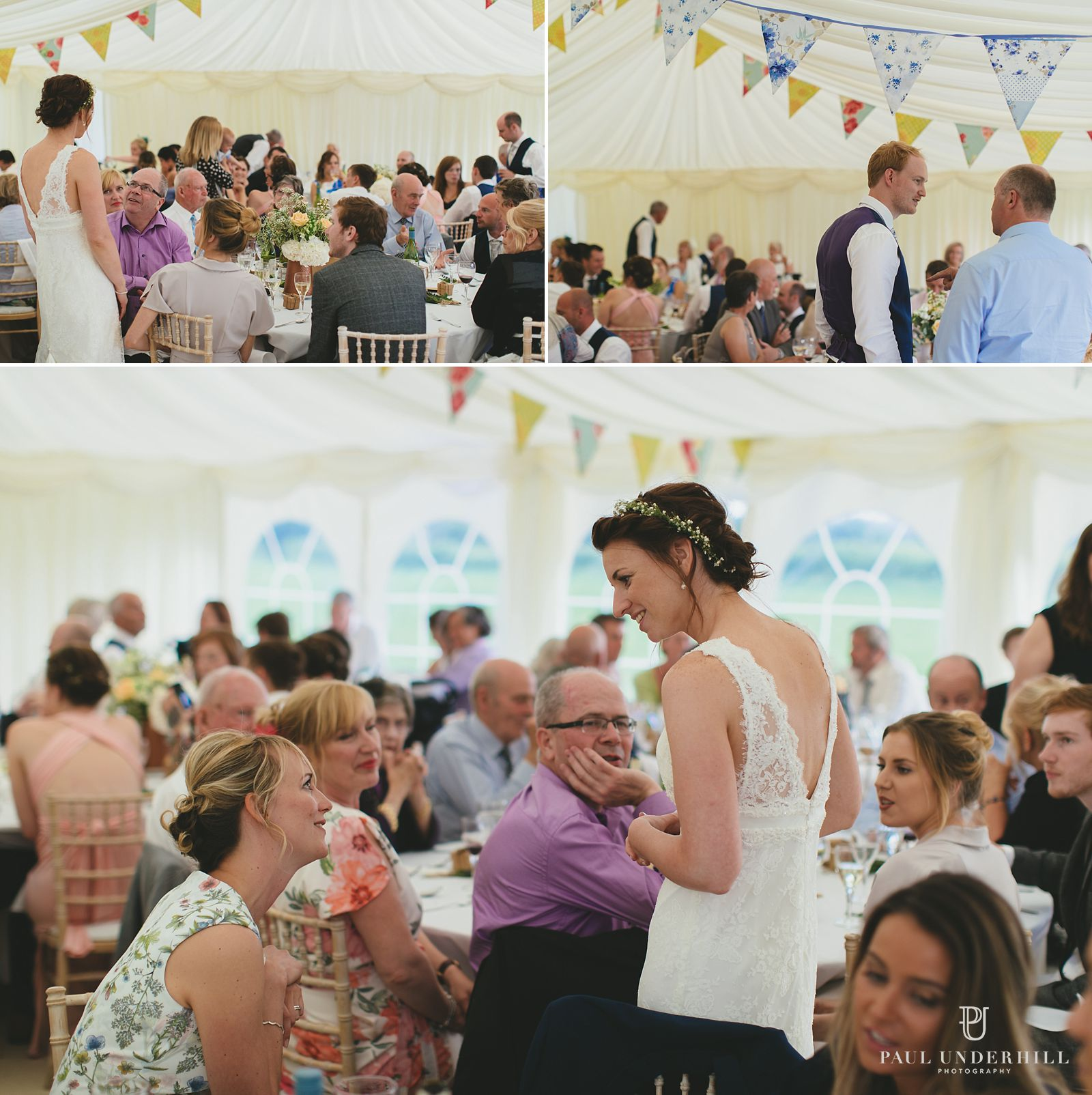 Marquee wedding reception in Dorset