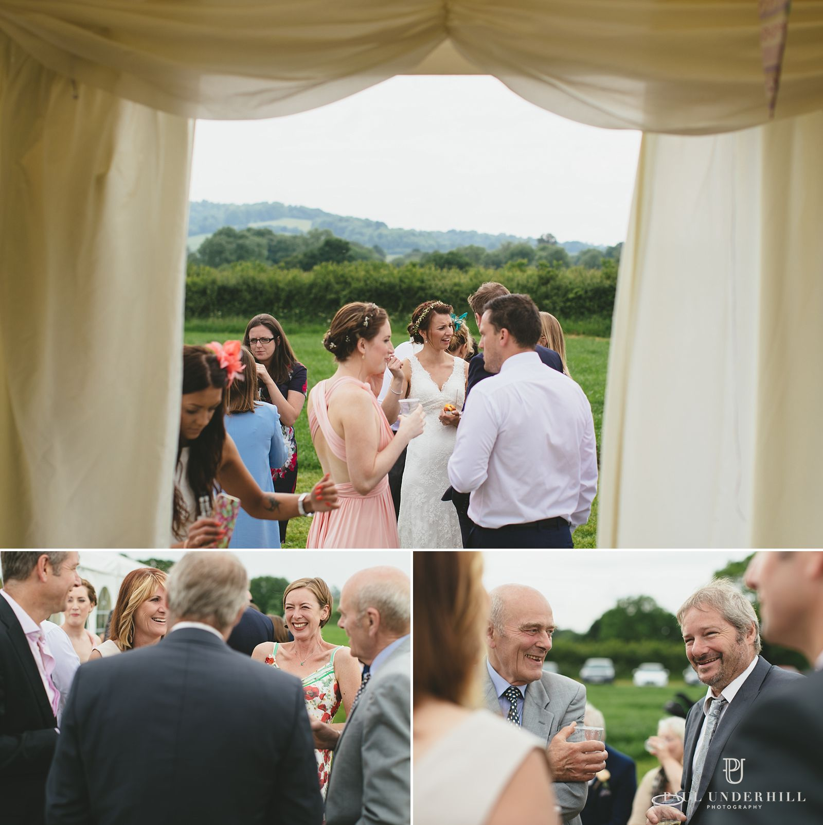 Outdoor wedding in rural Dorset