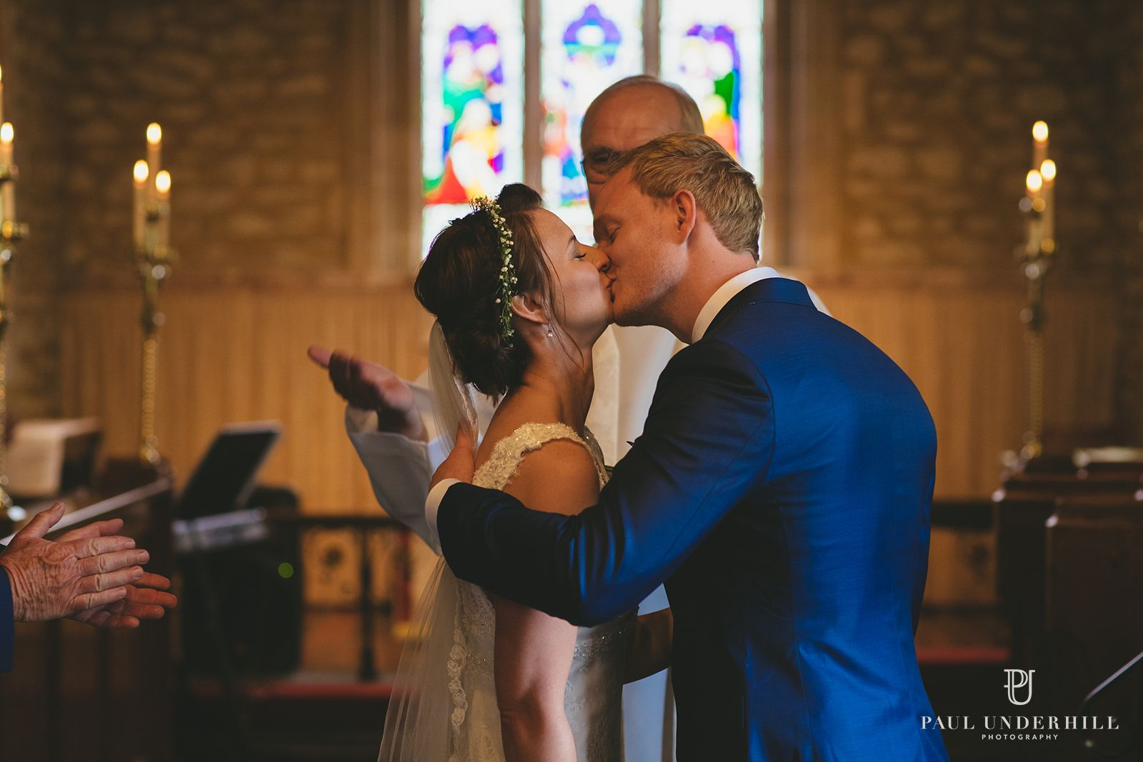 Village church wedding in Dorset