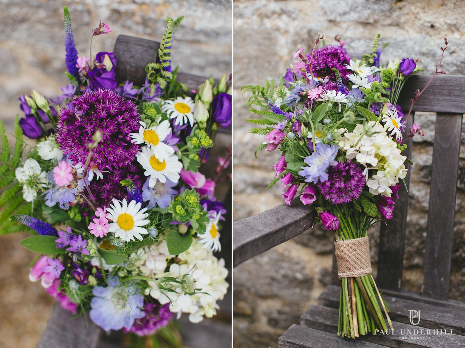 Wedding bouquet wild flowers