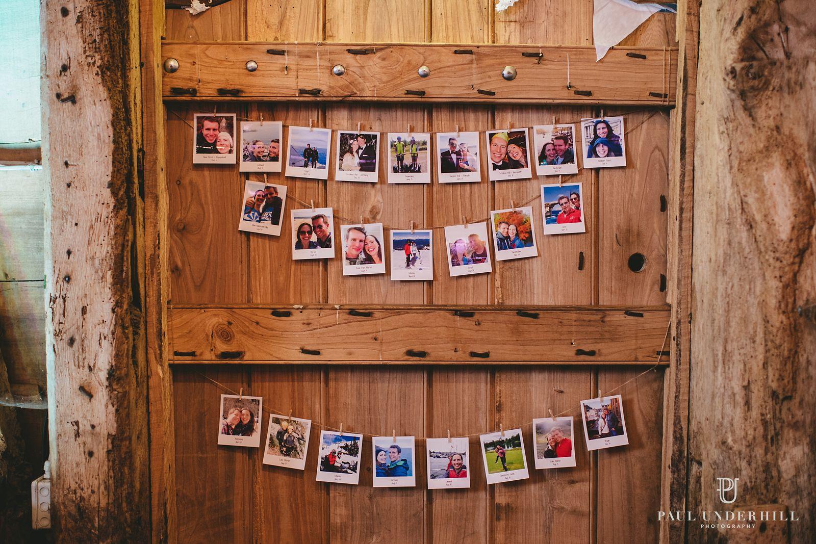 Wedding decorations at Stockbridge Farm Barn