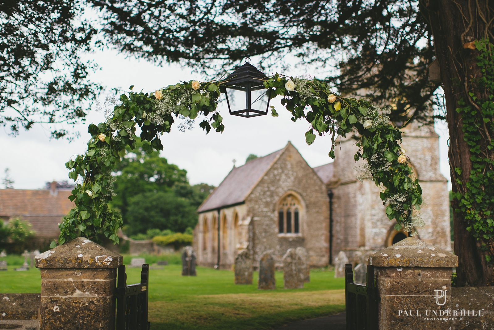 Wedding flowers Dorset country church