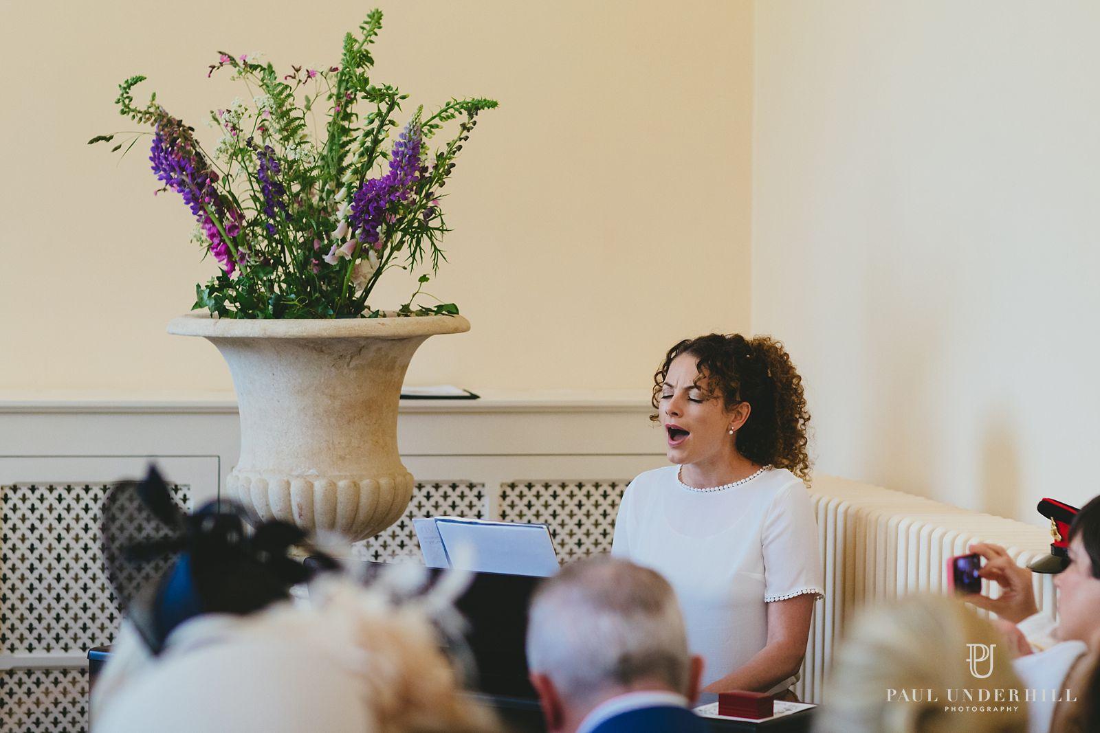 Wedding singer Sherborne castle
