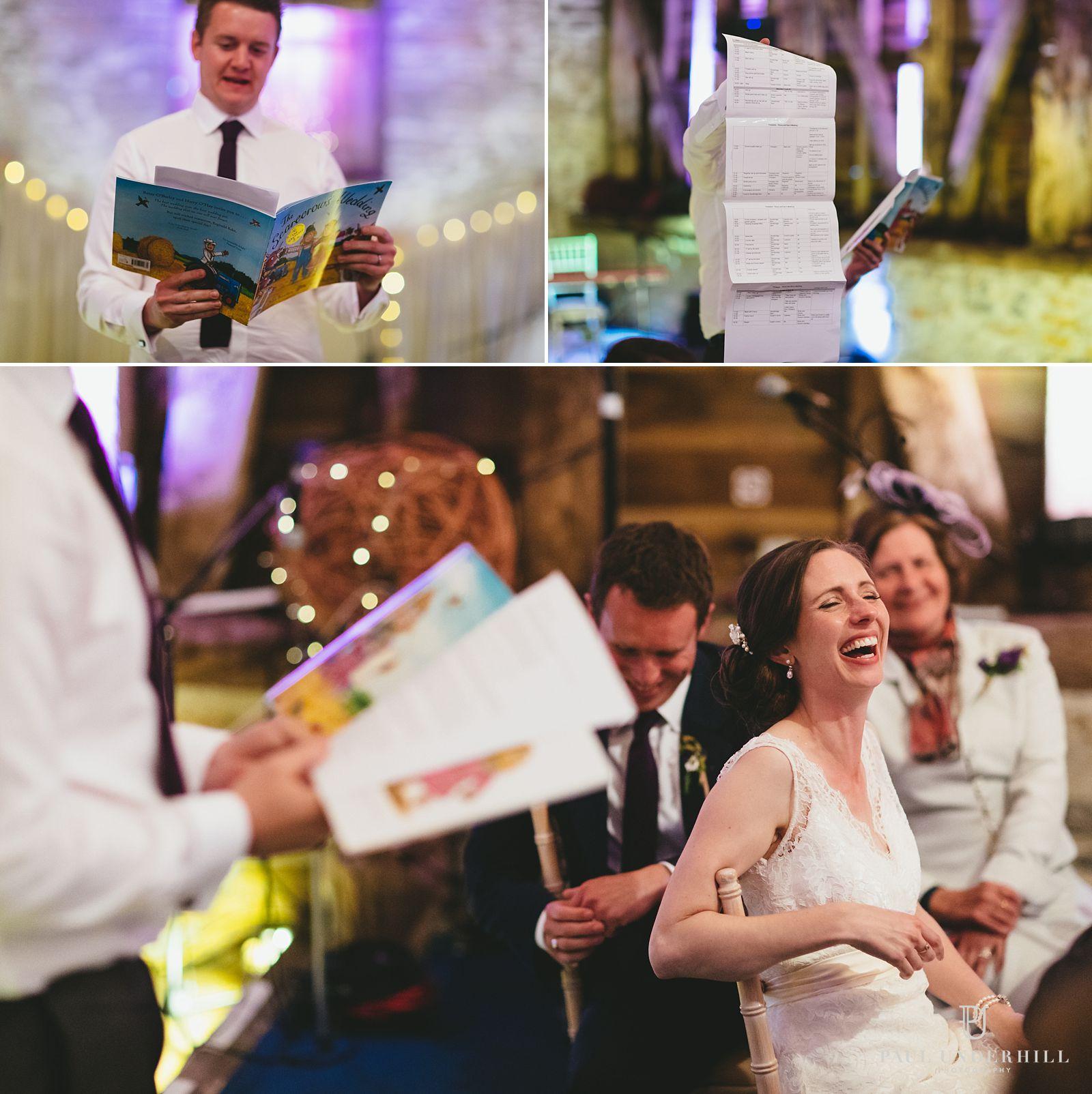 Wedding speeches Stockbridge Farm Barn