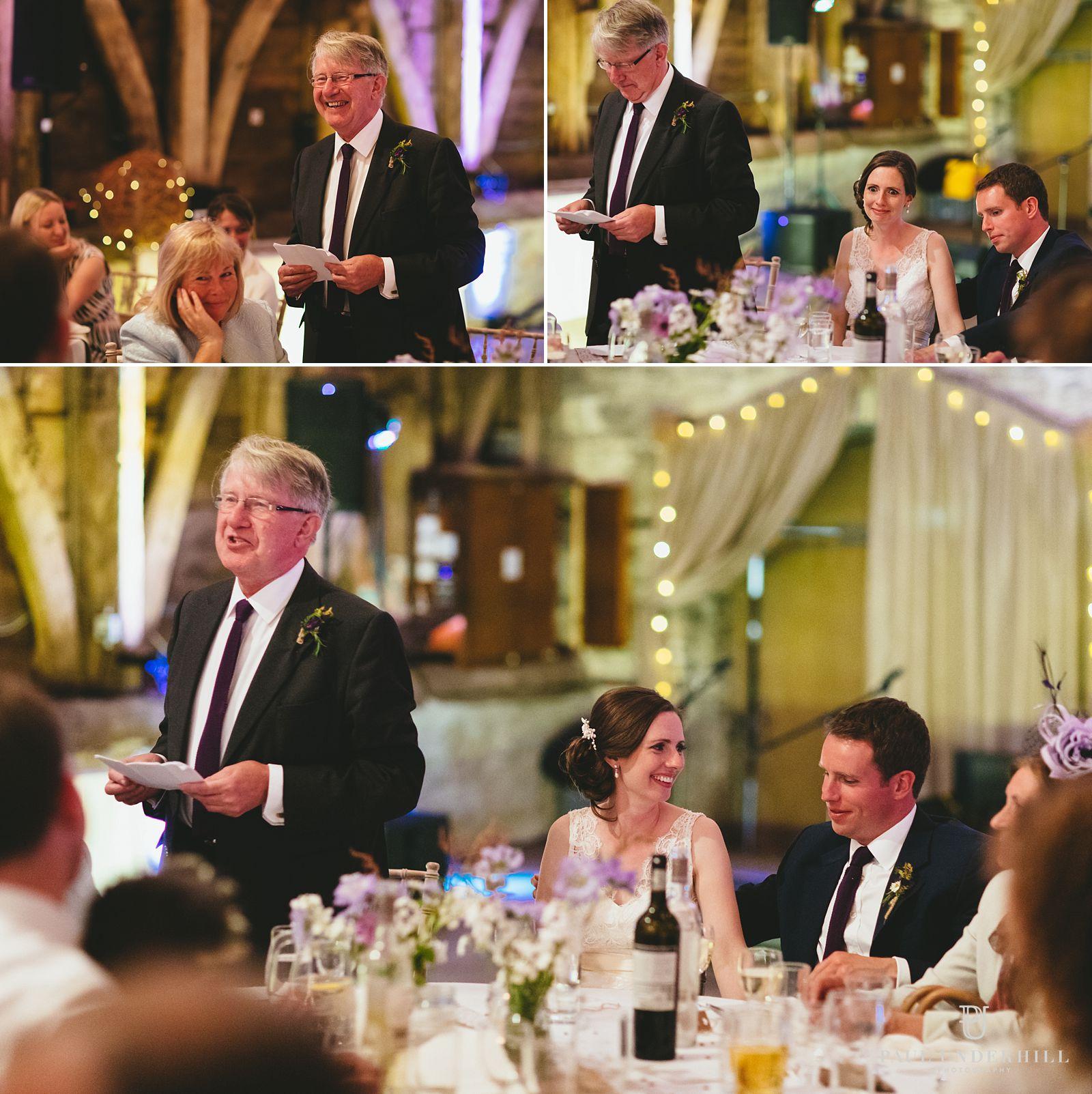 Wedding speechs Stockbridge Farm Barn