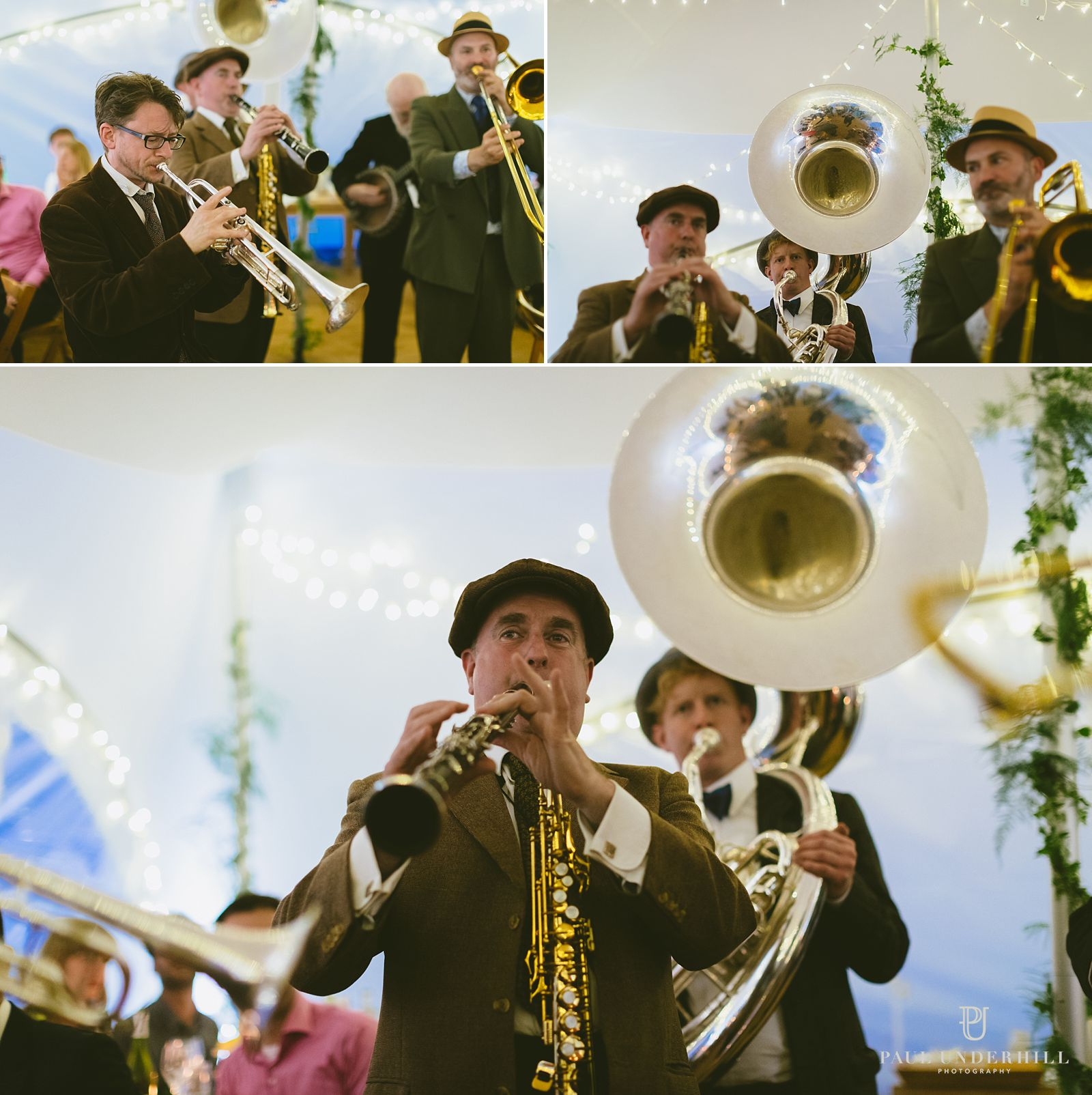 Brass band wedding entertainment