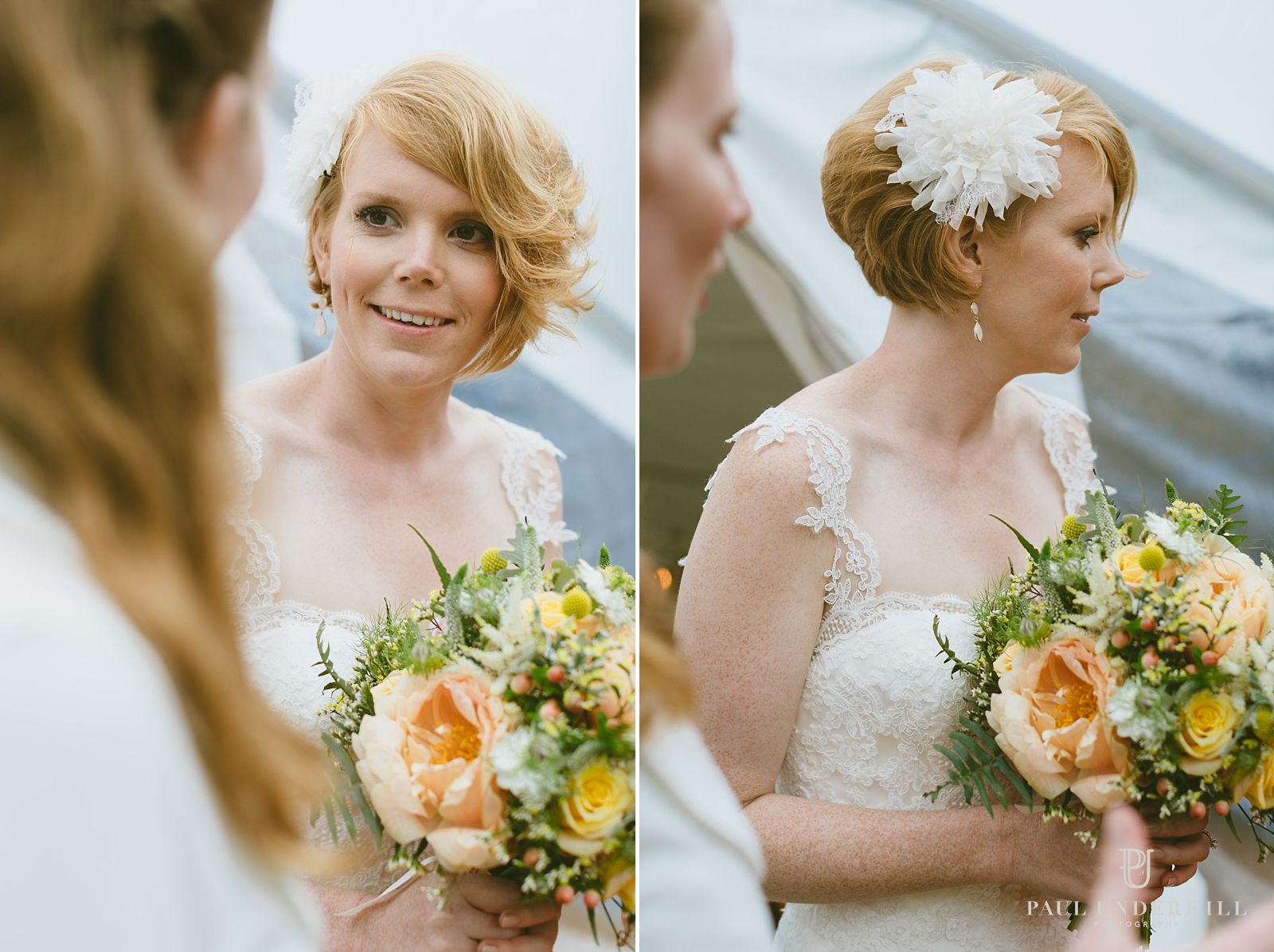 Candid portraits of bride
