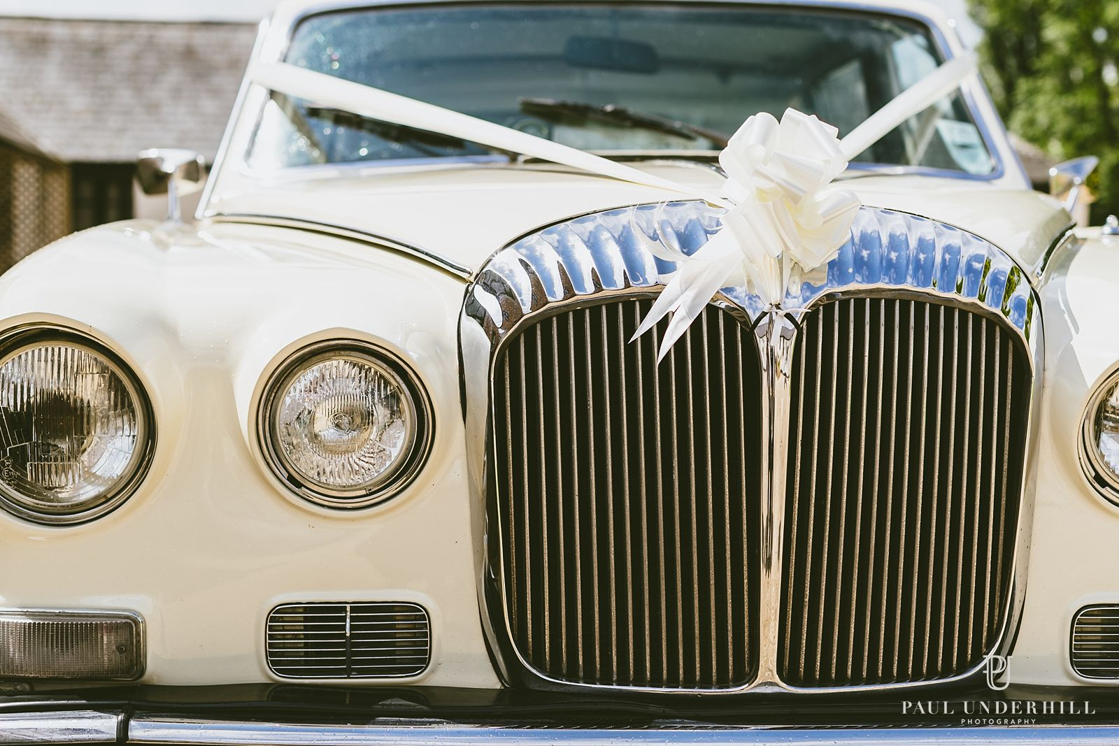 Creative photography of wedding car