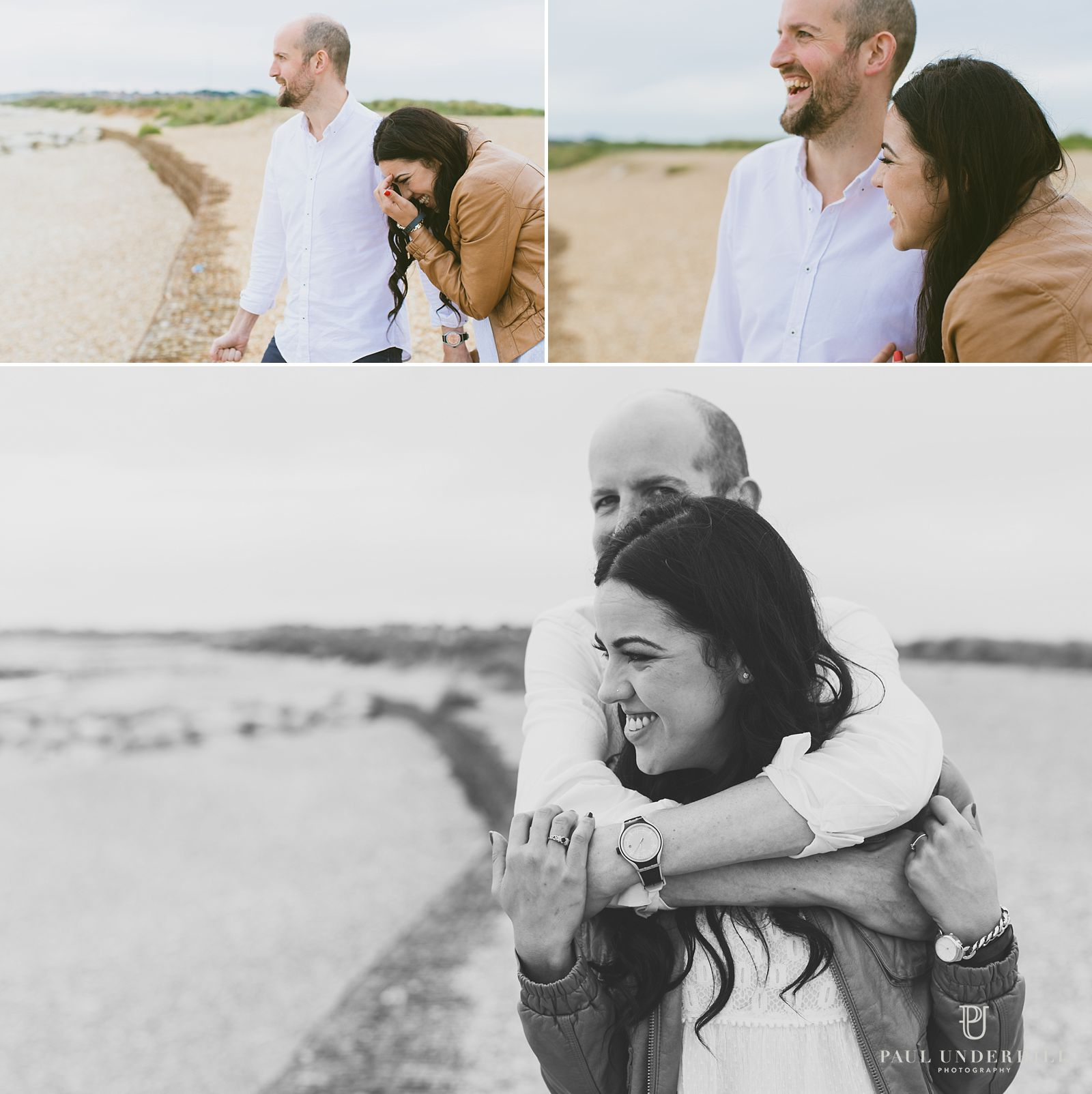 Fun couple portraits in Dorset