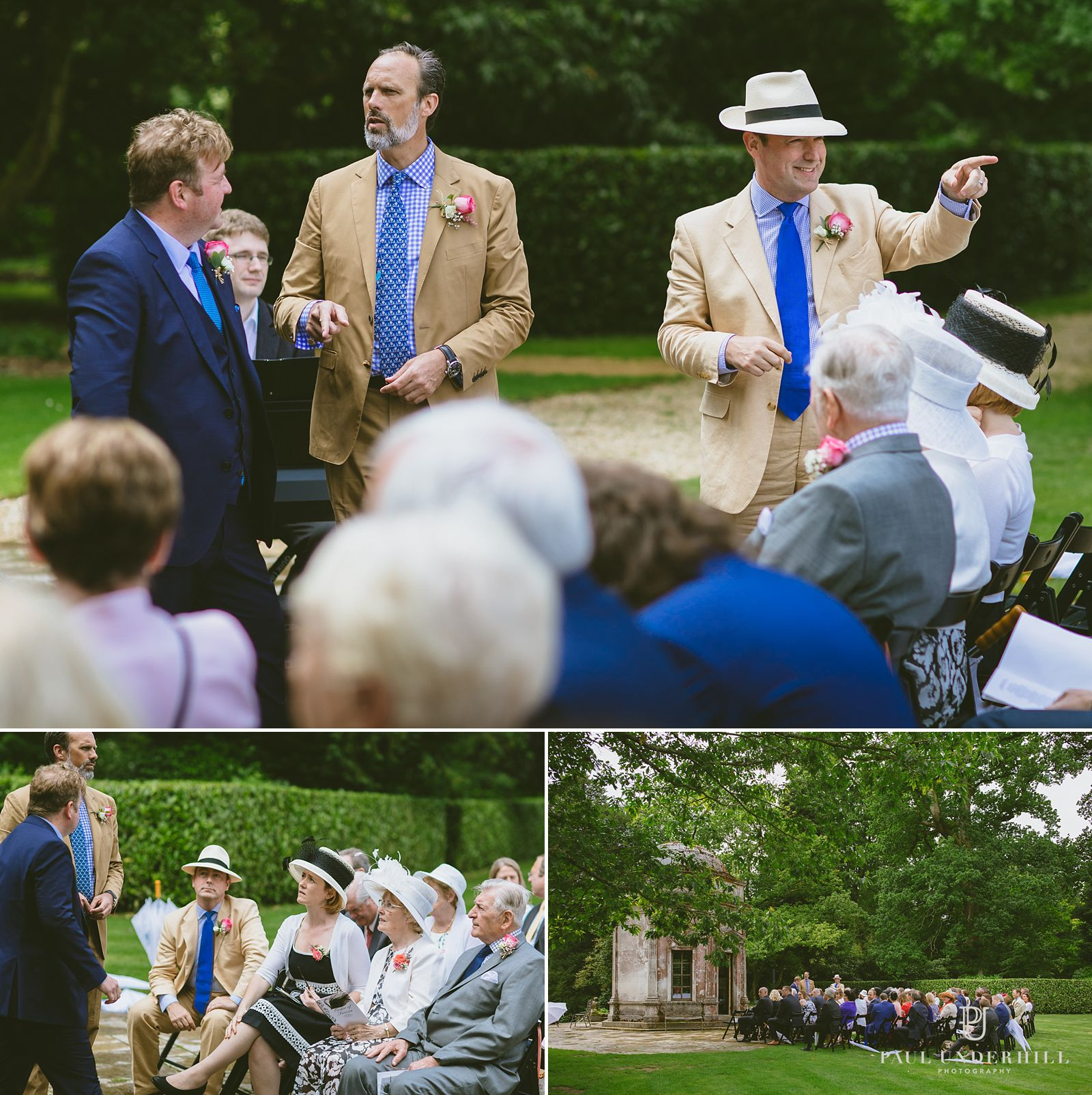 Groom Larmer Tree gardens wedding