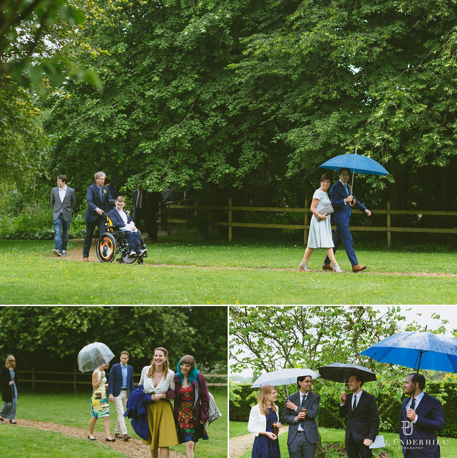 Guests arrive for Moreton Manor House wedding