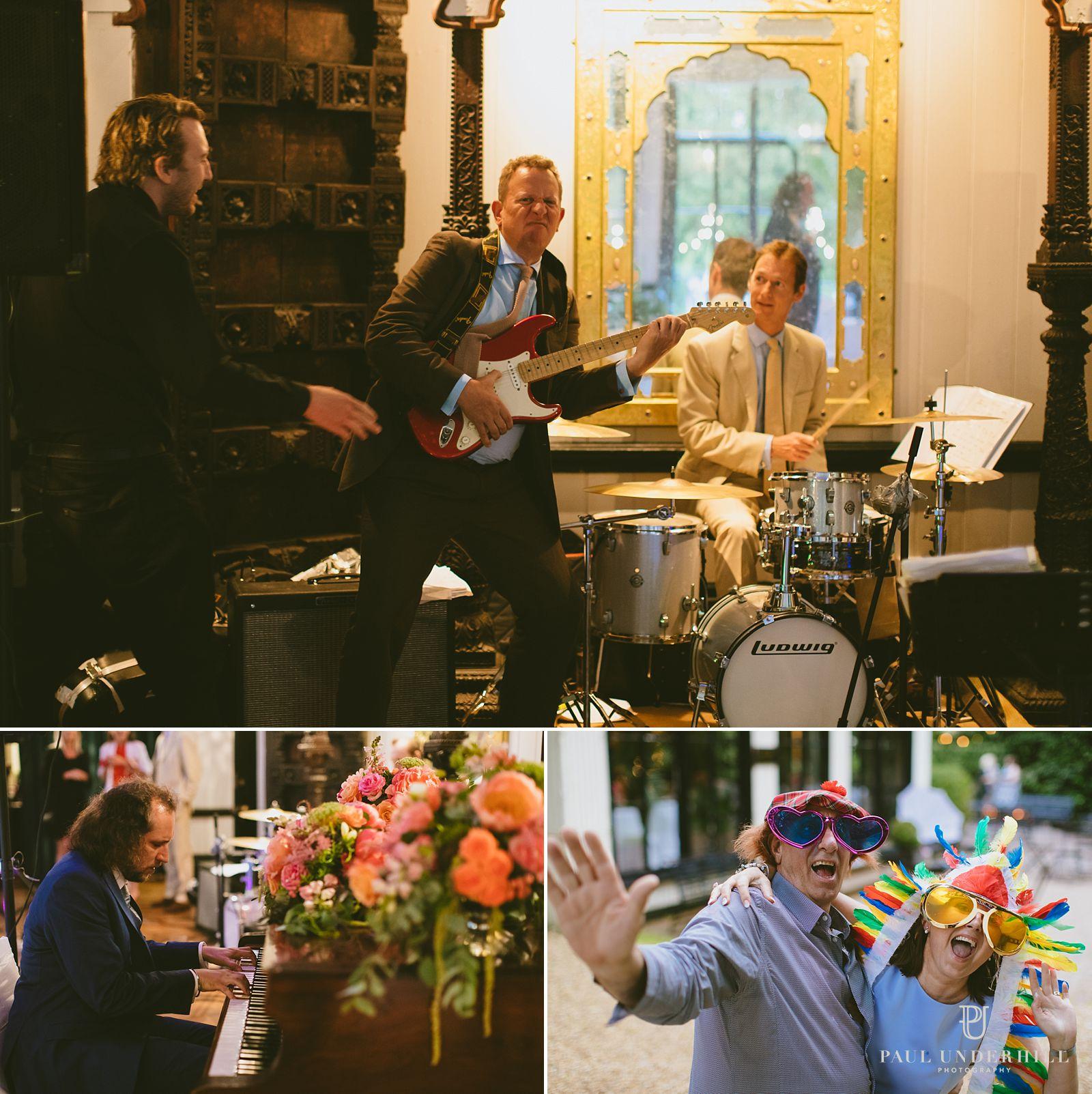 Guests having fun at Larmer Tree wedding