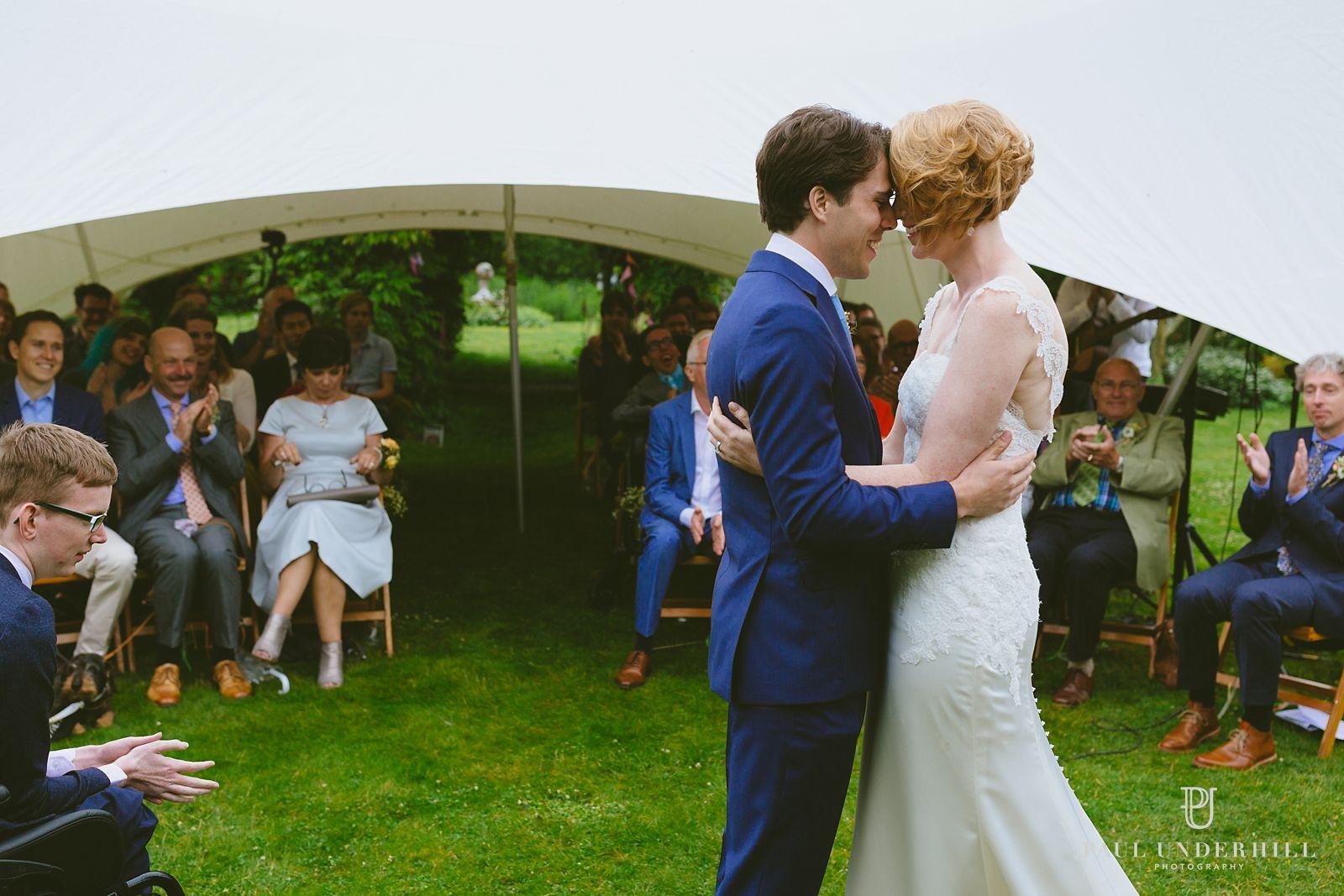 Intimate outdoor wedding in Dorset