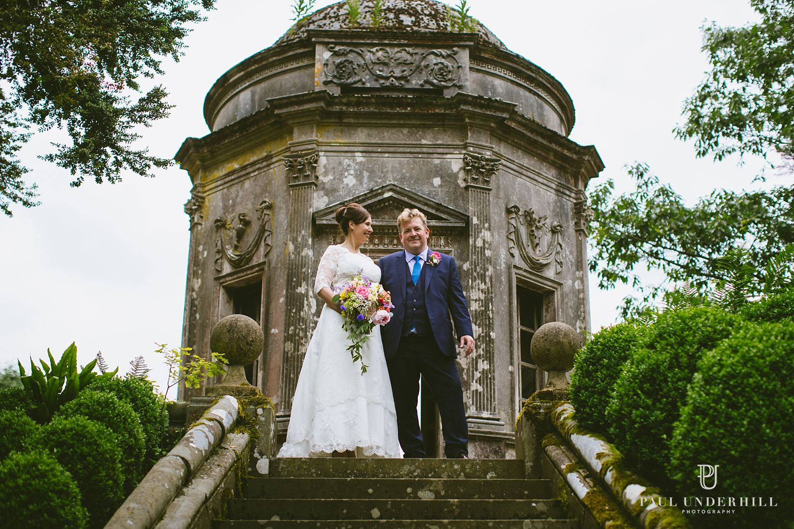 Larmer Tree bride and groom portrait