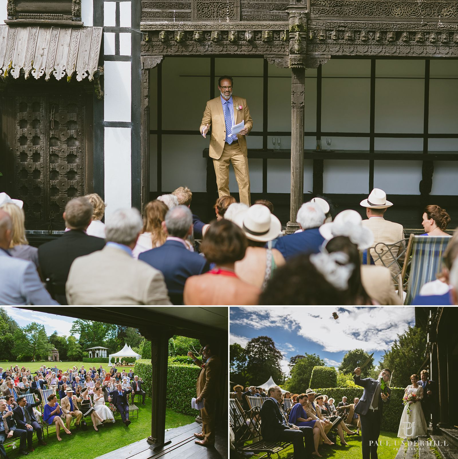 Larmer Tree gardens wedding documentary
