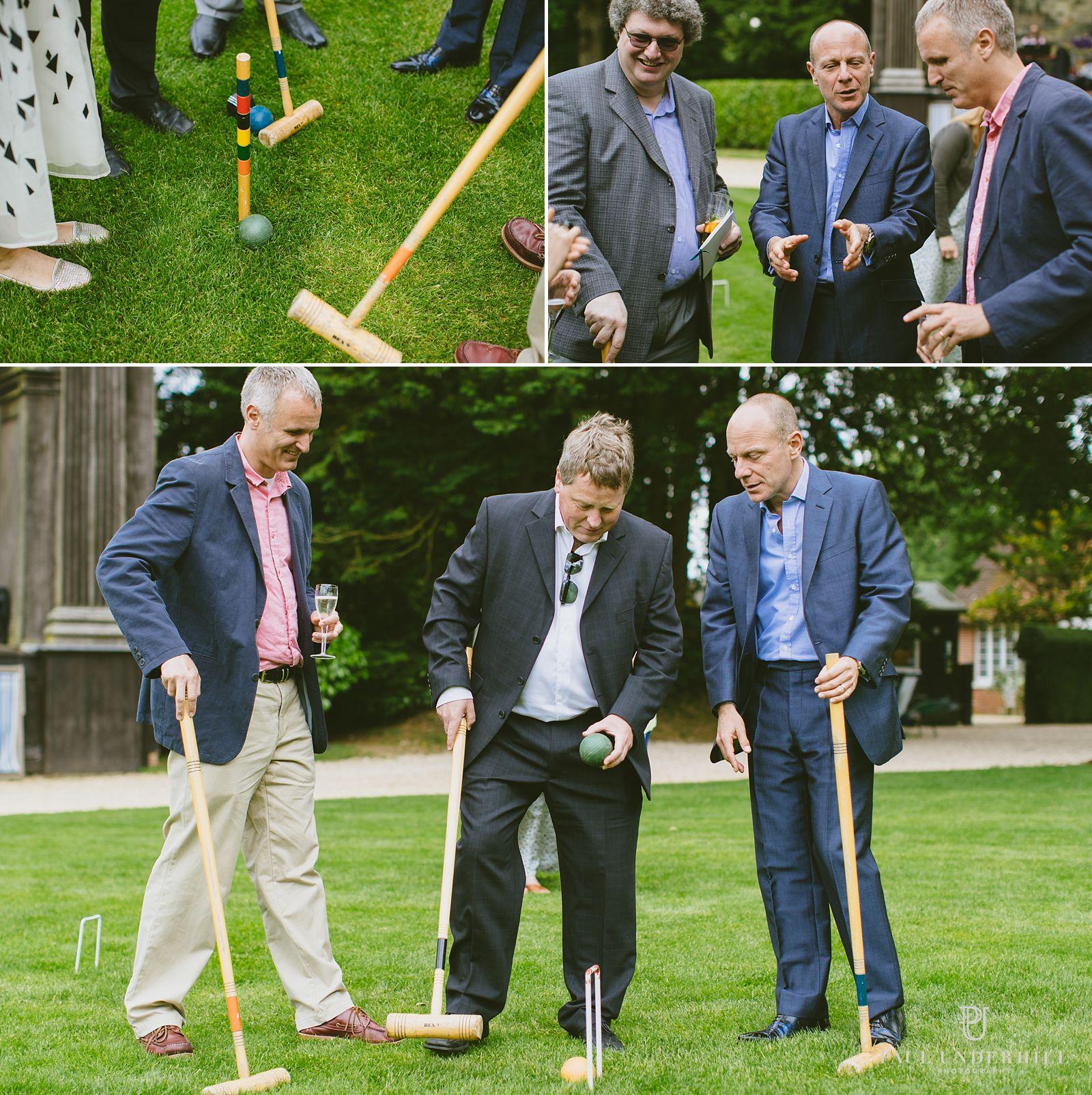 Lawn games at Larmer Tree wedding