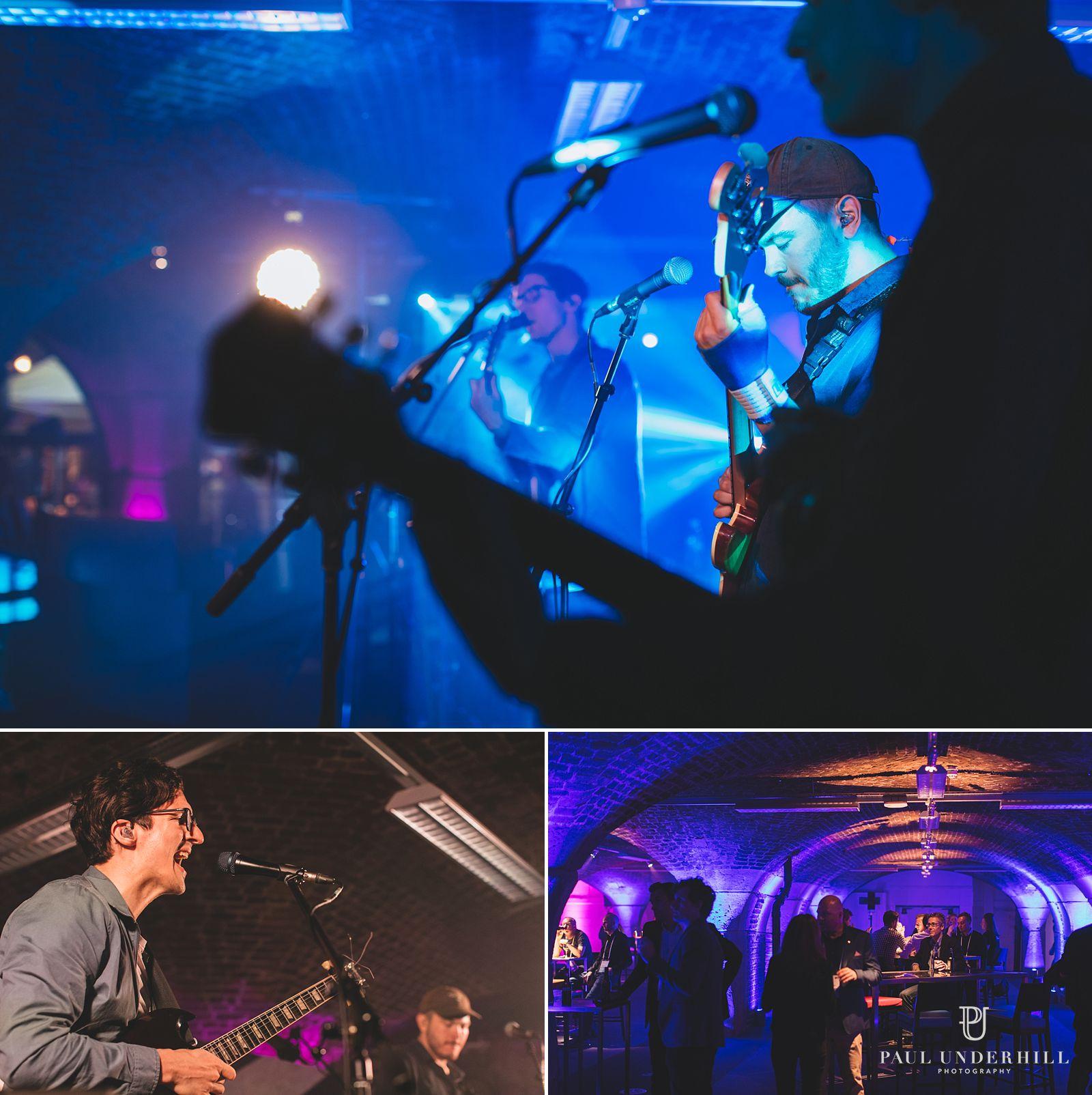 Live band at Tabacco Dock London